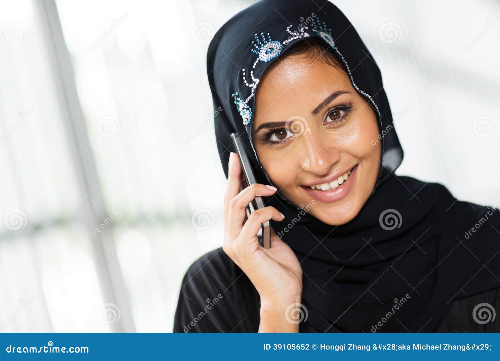 De Arabische telefoon van de vrouwencel