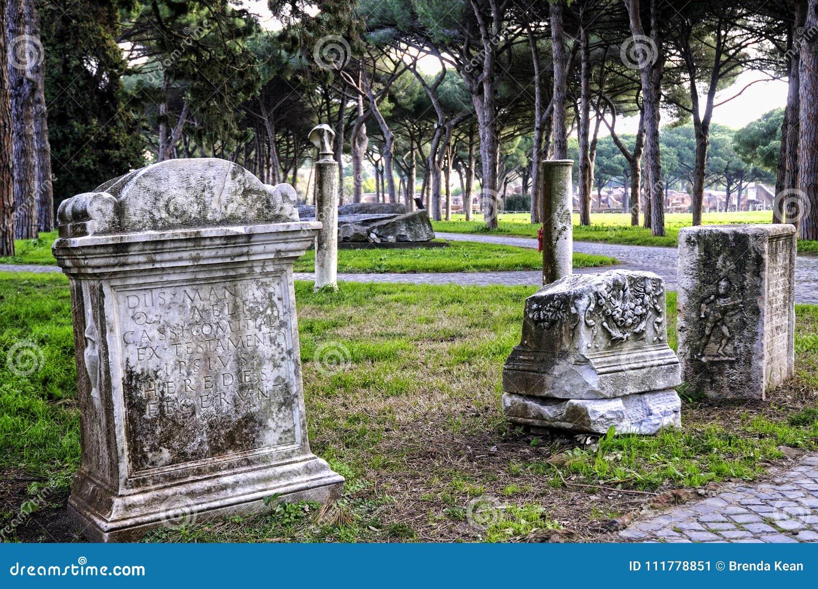 De archeologische plaats van Ostia Antica die de oude haven van Rome in Italië was