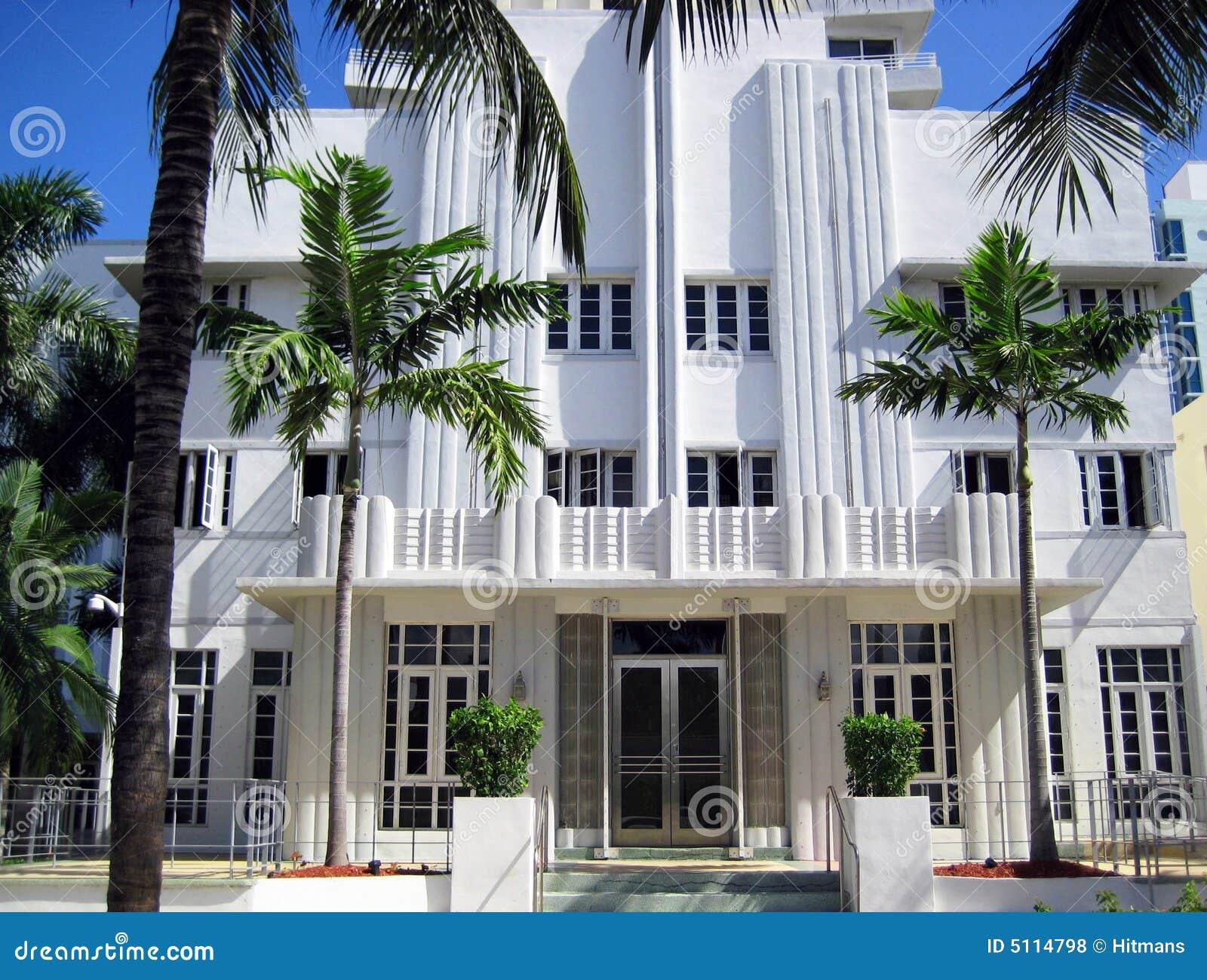 De architectuur miami van het art deco stock foto afbeelding 5114798 - Deco van het appartement ...