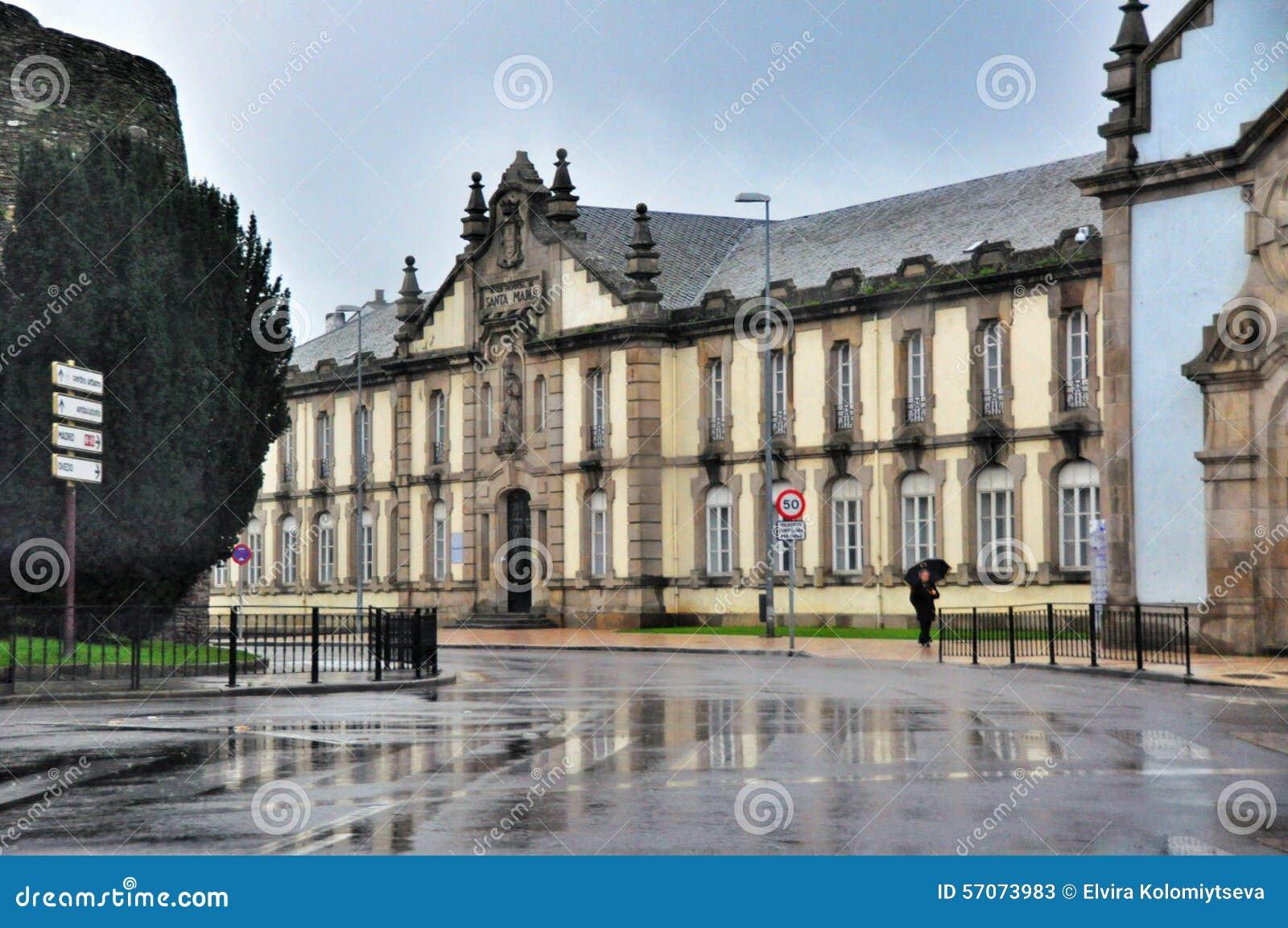 De architectuur van de Spaanse stad van Lugo