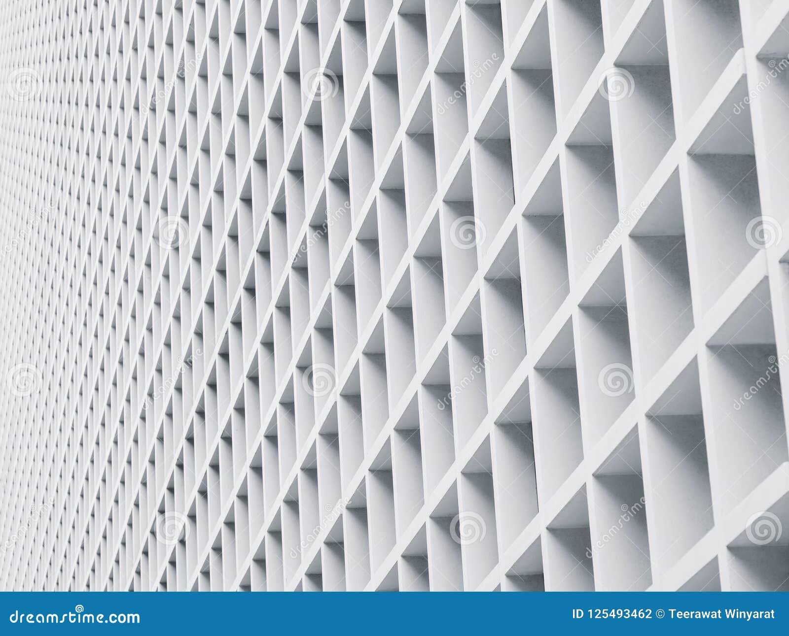 De Architectuur van het cementpaneel detailleert Geometrisch Patroon