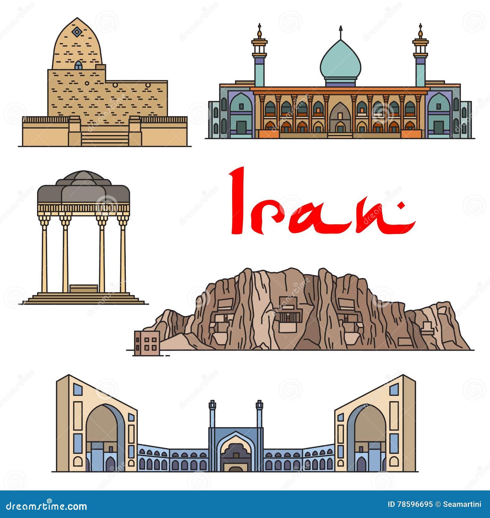 De architectuuroriëntatiepunten van Iran, sightseeing