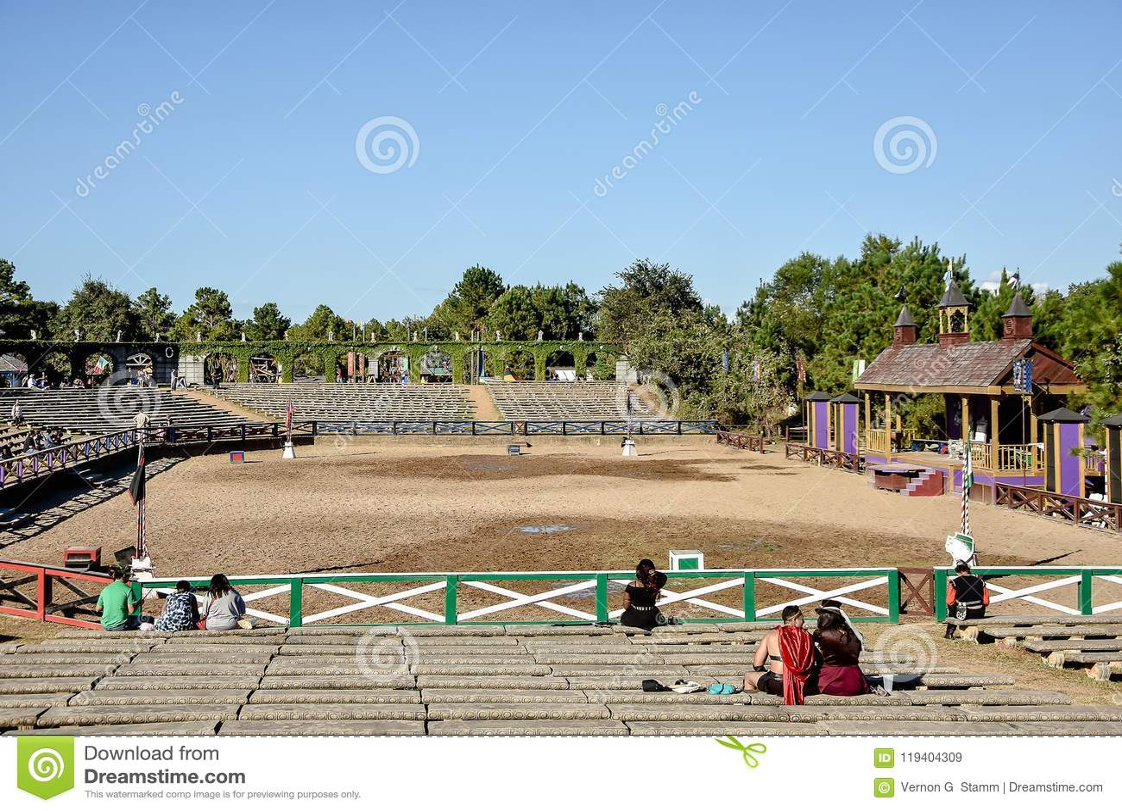De Arena van Jousting van het renaissancefestival