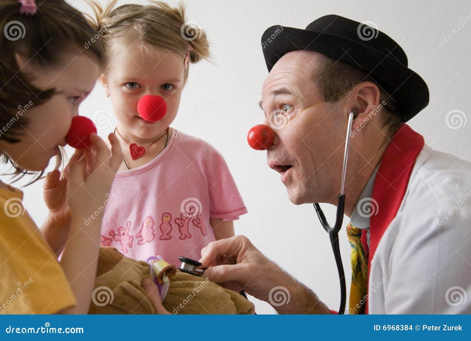 De arts van de clown