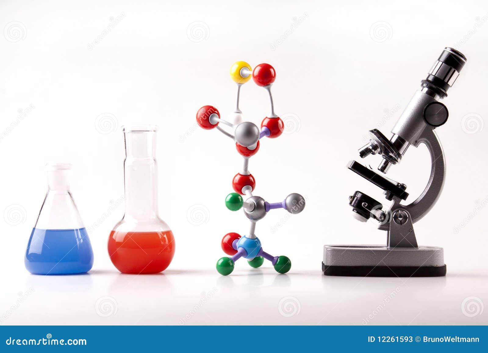 De Atomen van de microscoop en de Vloeistof van de heks van Flesjes en