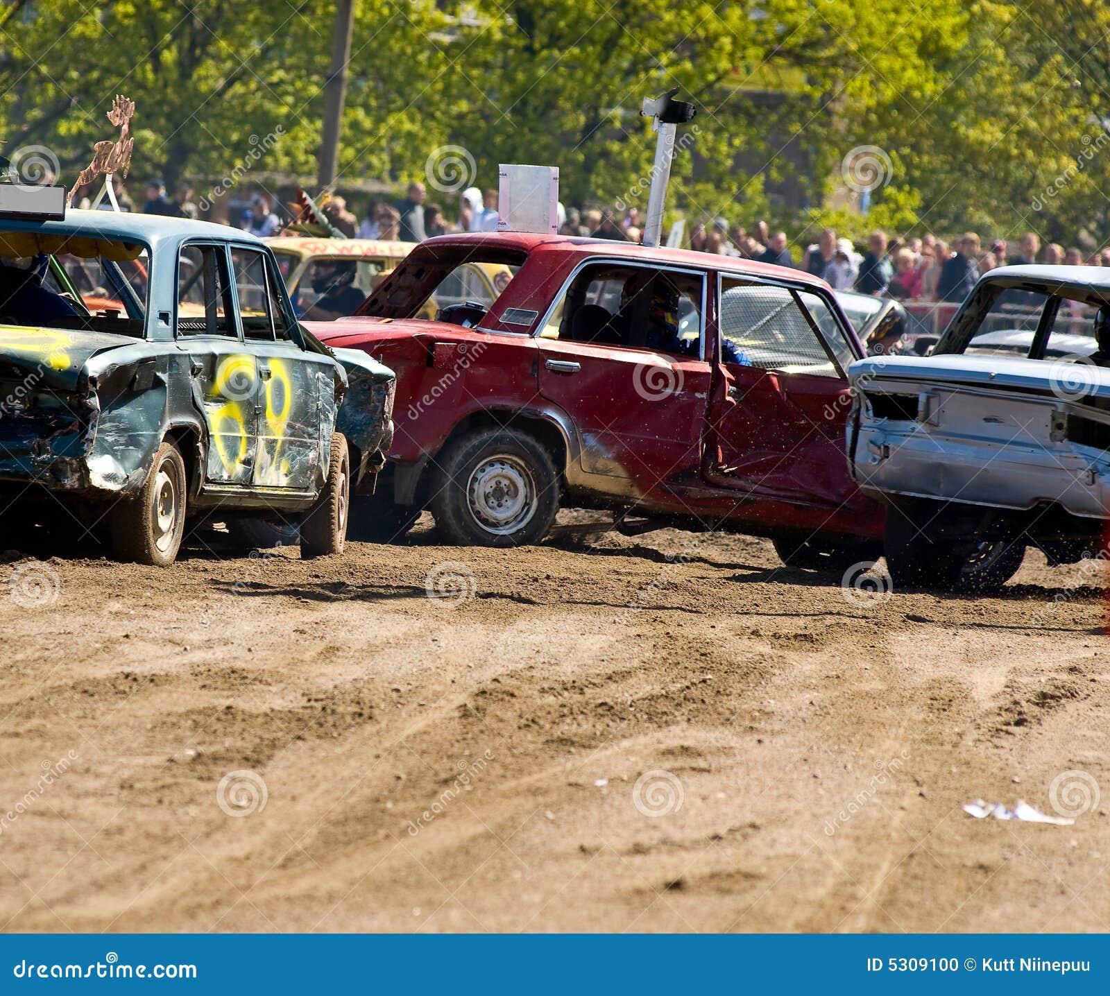 De Auto s van de Derby van de vernieling