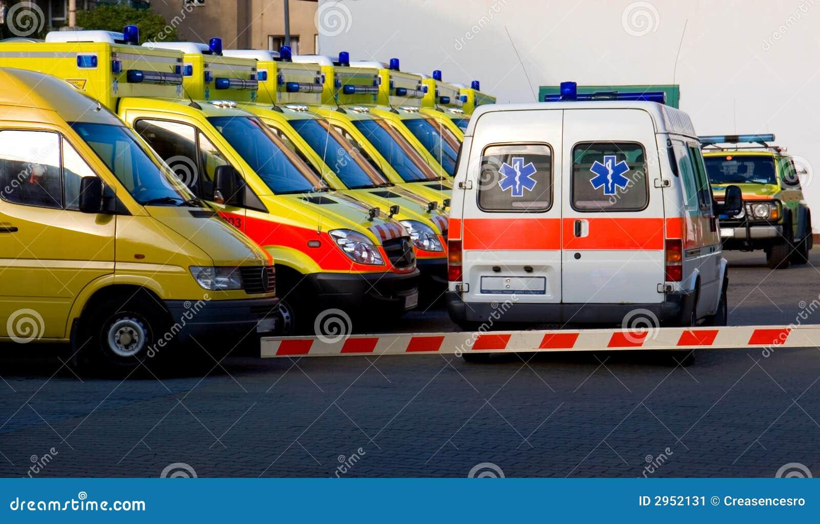 De auto s van de ziekenwagen