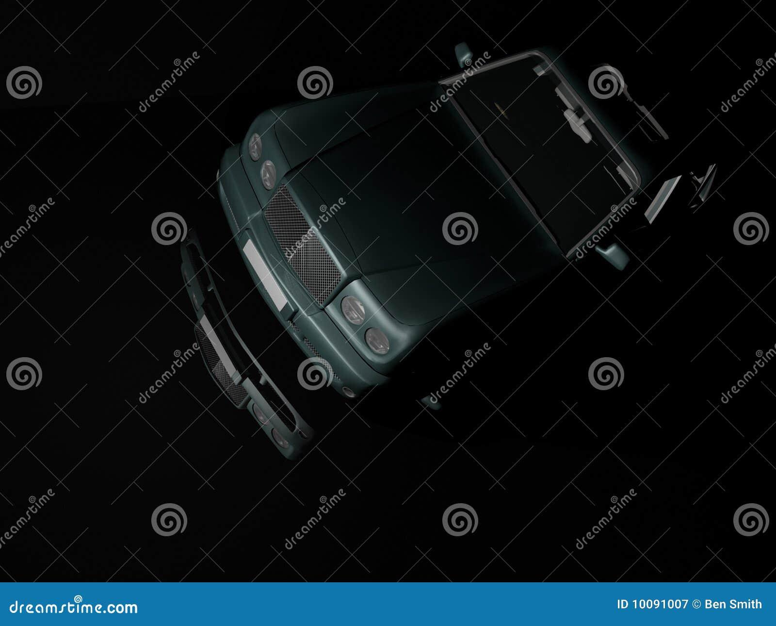 De Auto van de luxe bij Nacht