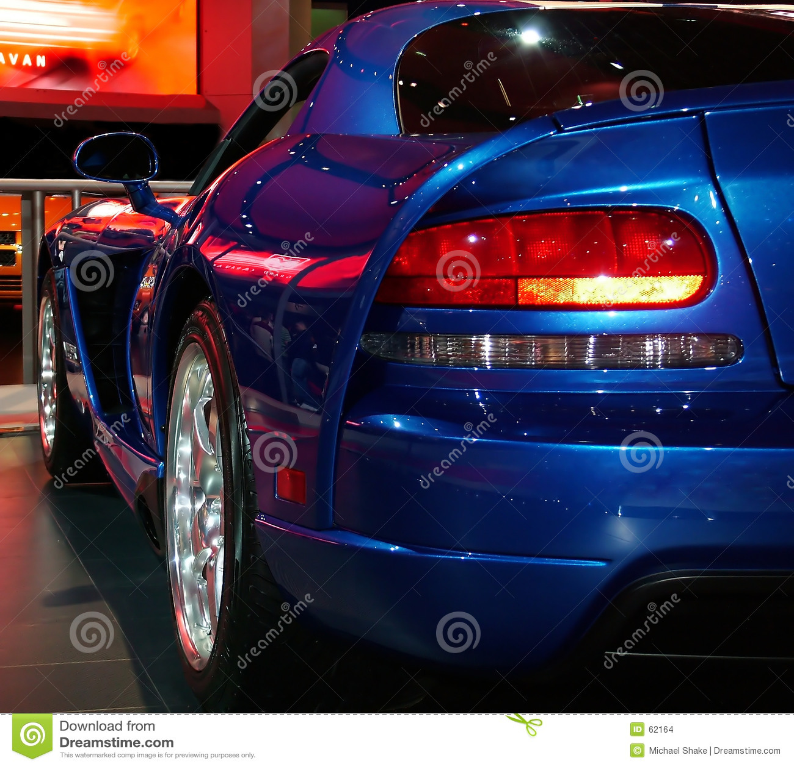 De auto van de spier