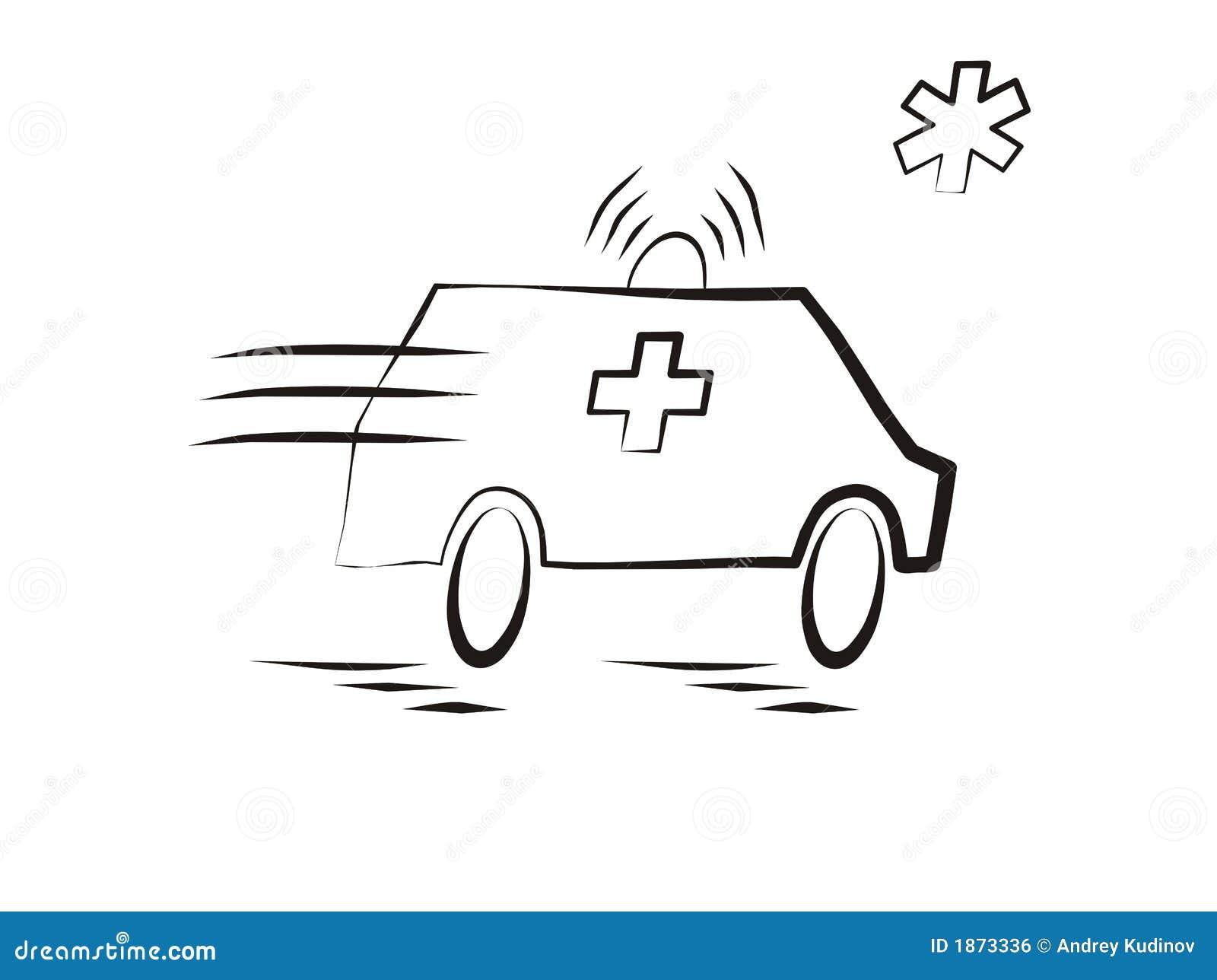 De auto van de ziekenwagen