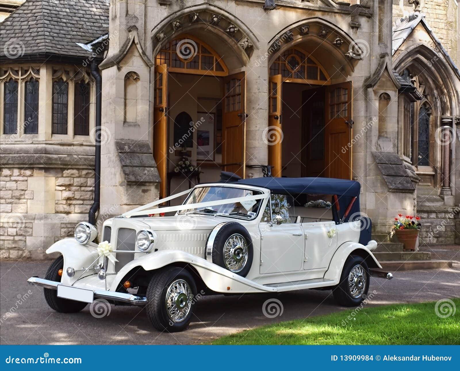 De auto van het huwelijk stock afbeeldingen beeld