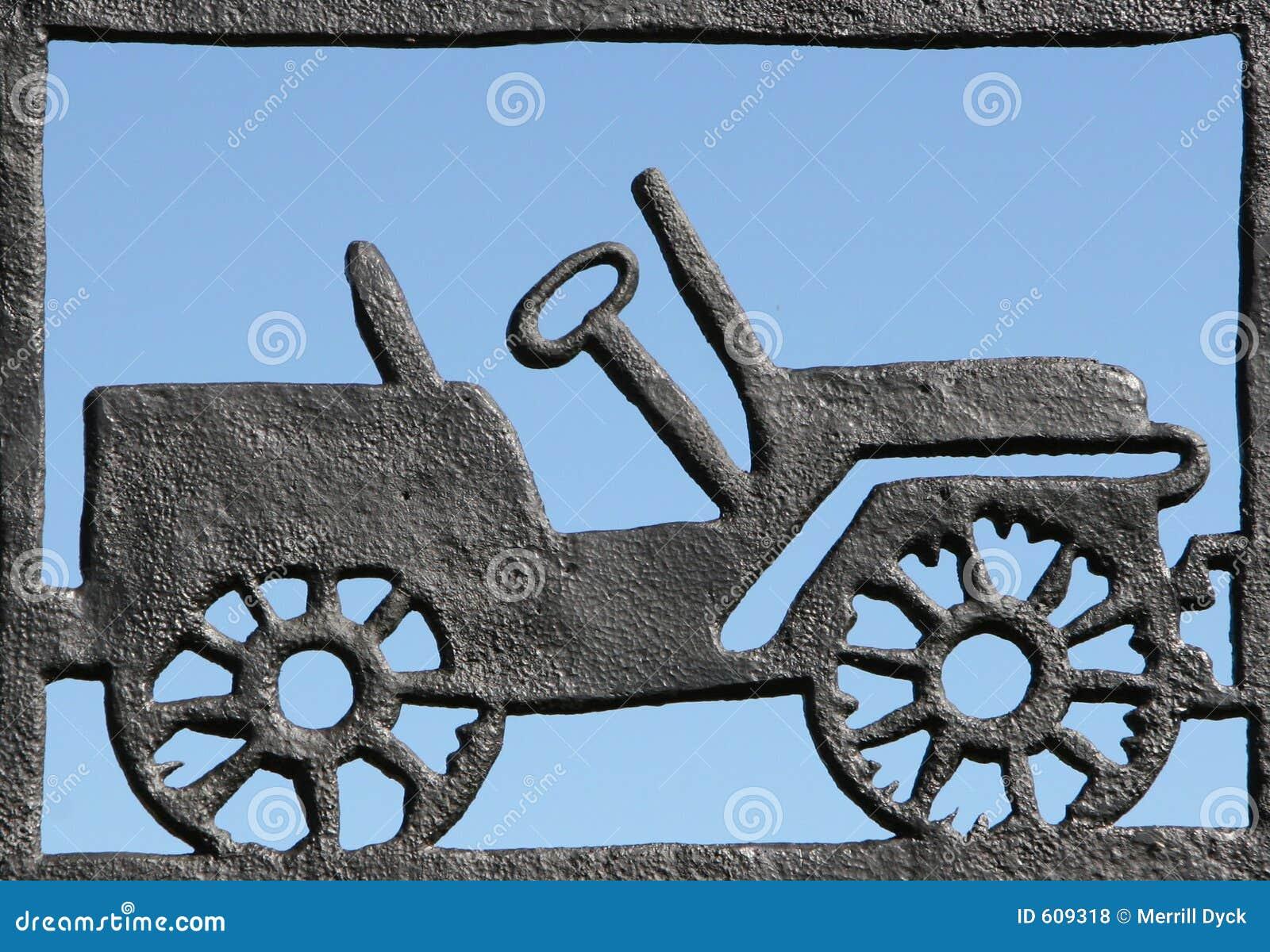 De Auto van het smeedijzer