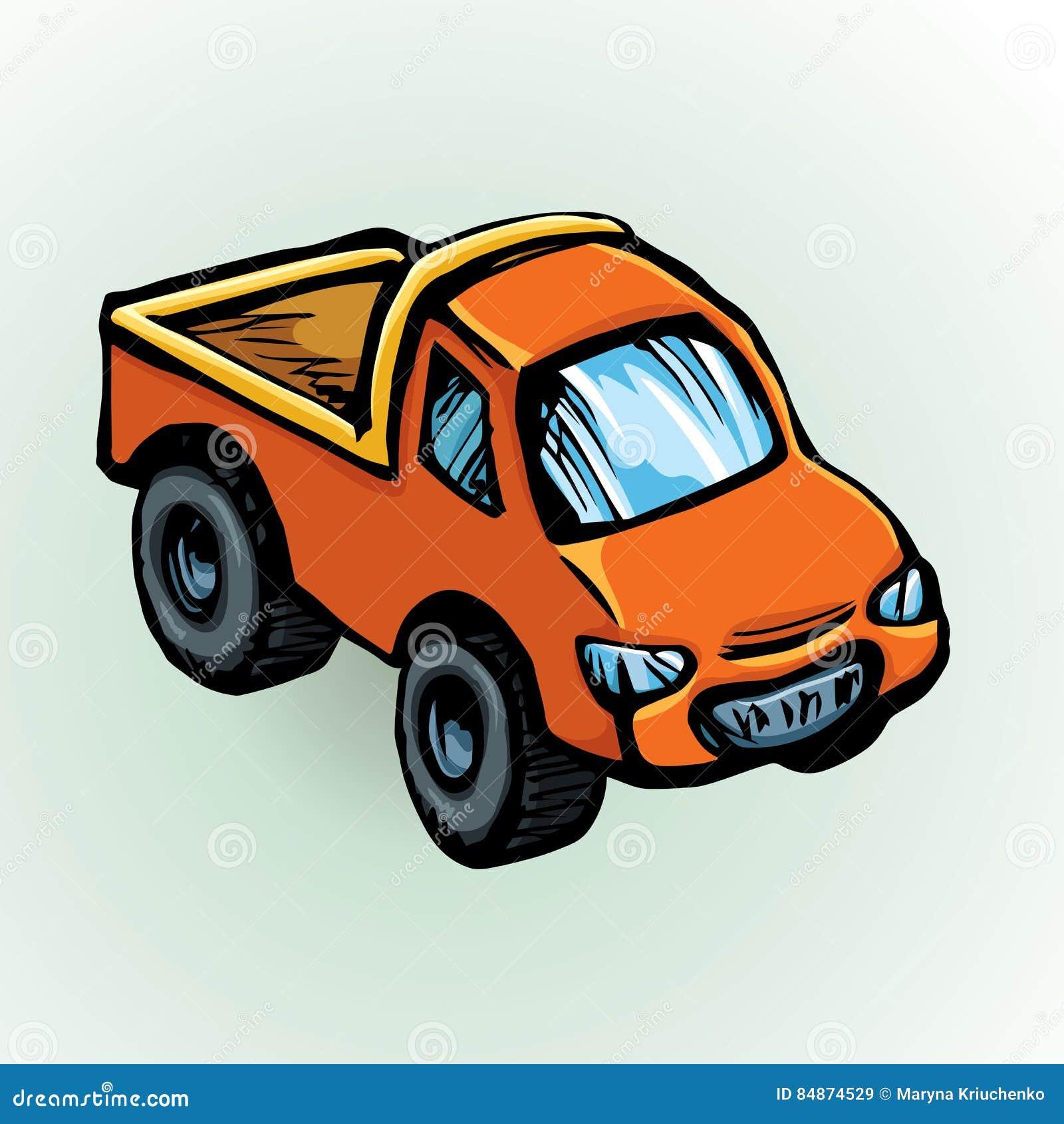 De Auto Van Het Stuk Speelgoed Vector Tekening Vector