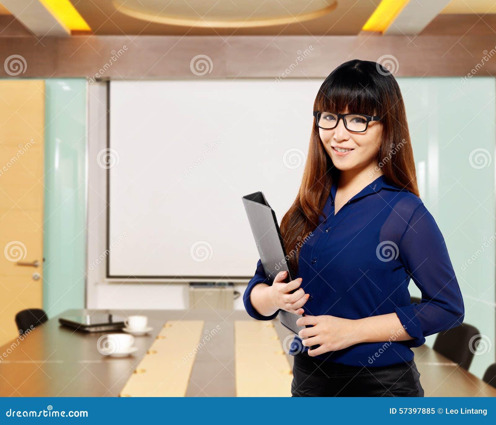 De Aziatische omslag van de bedrijfsvrouwenholding