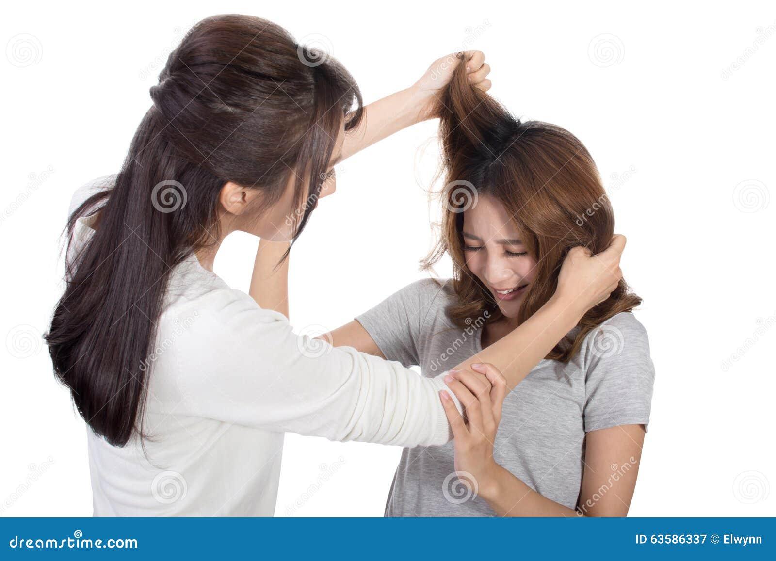 De Aziatische vrouwen vechten