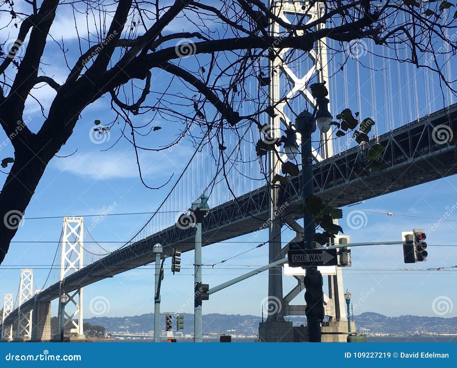 De Baaibrug van San Francisco-Oakland, langs Embarcadero
