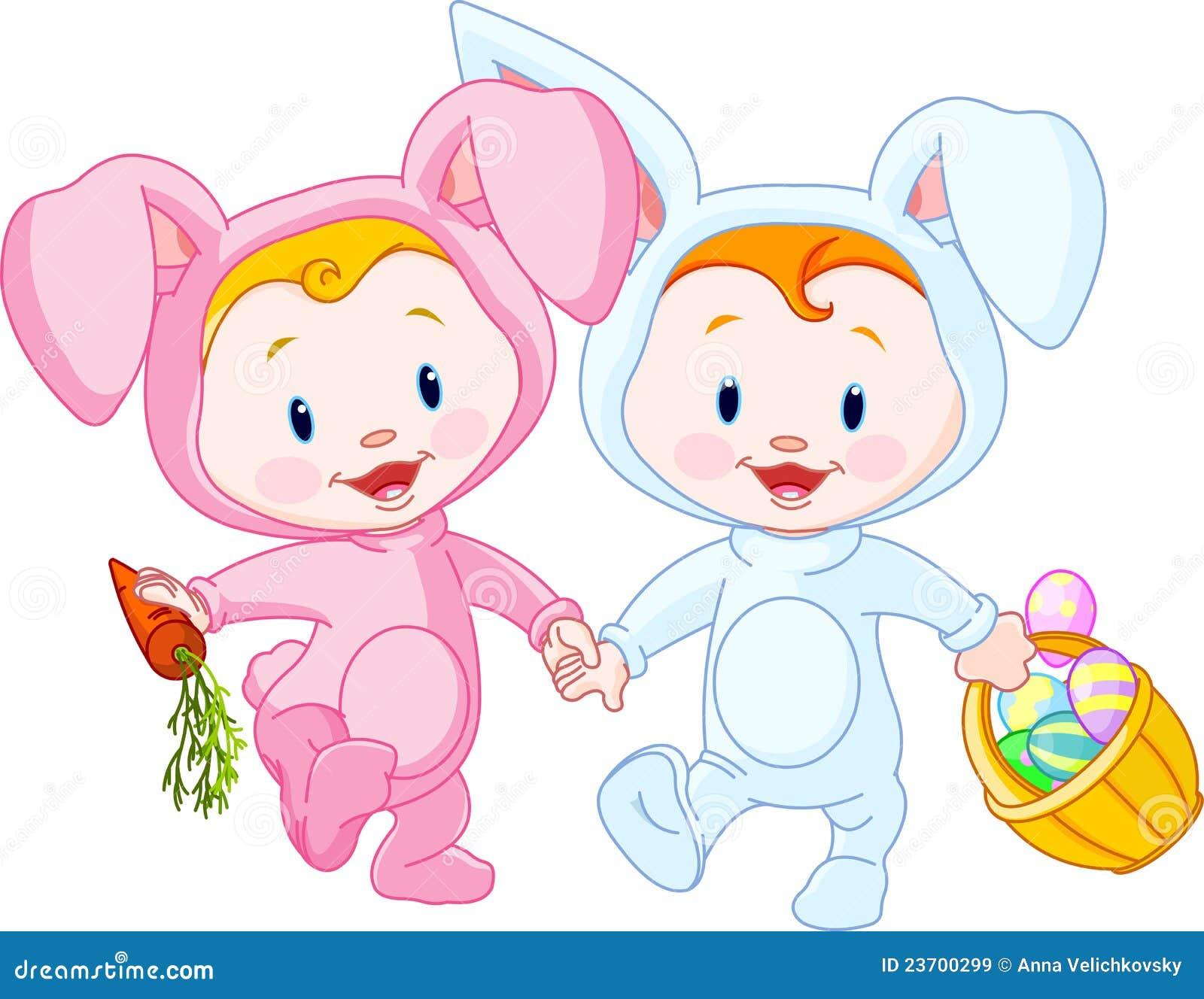 De baby-Konijntjes van Pasen