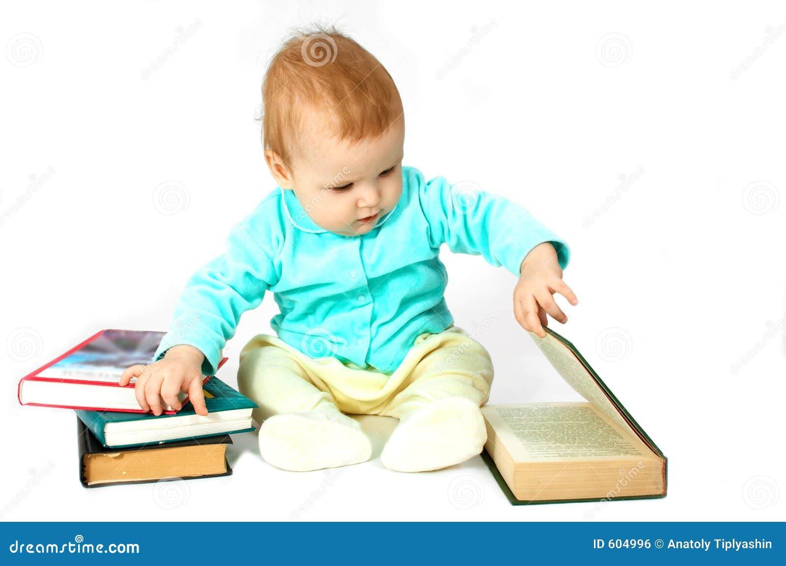 De baby las het boek