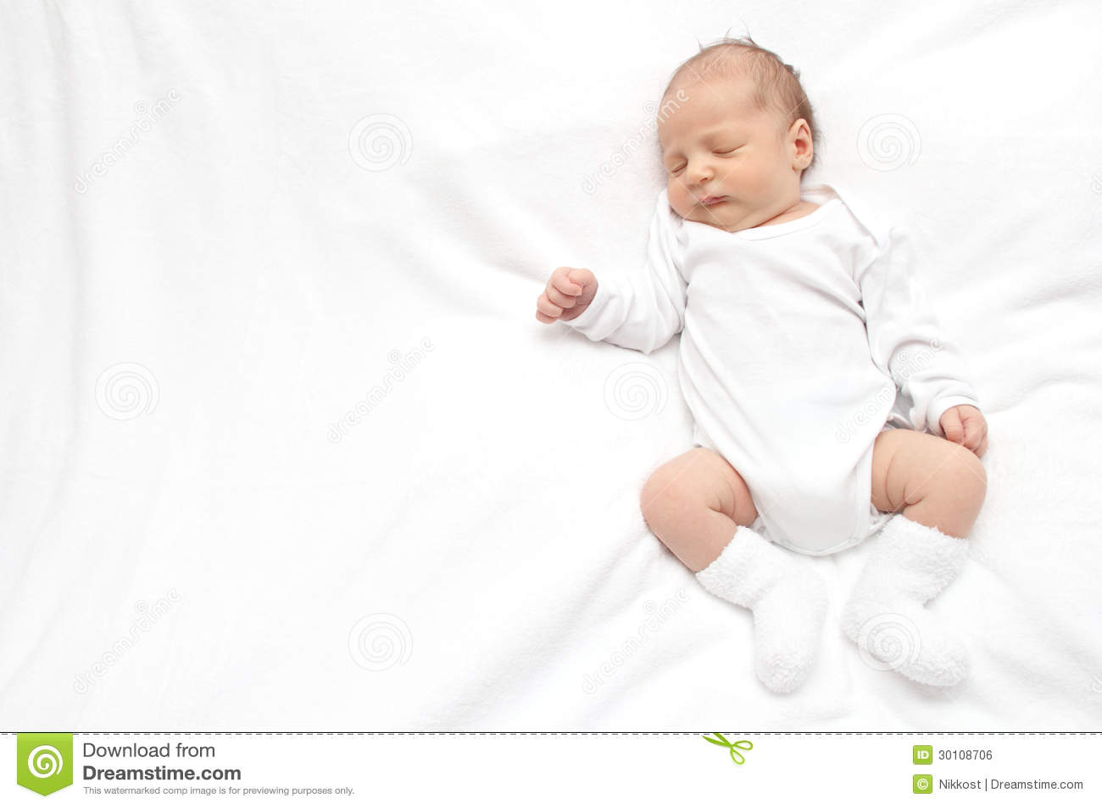 De baby van de slaap