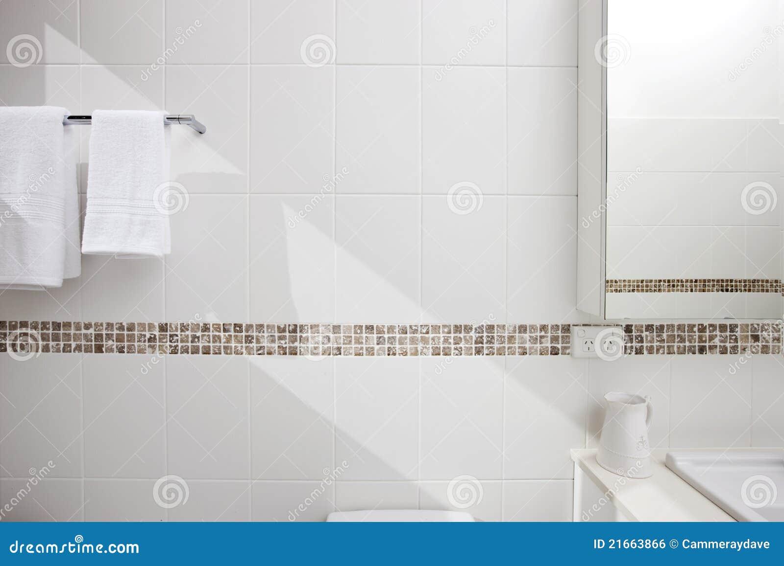 De badkamers betegelt Detail