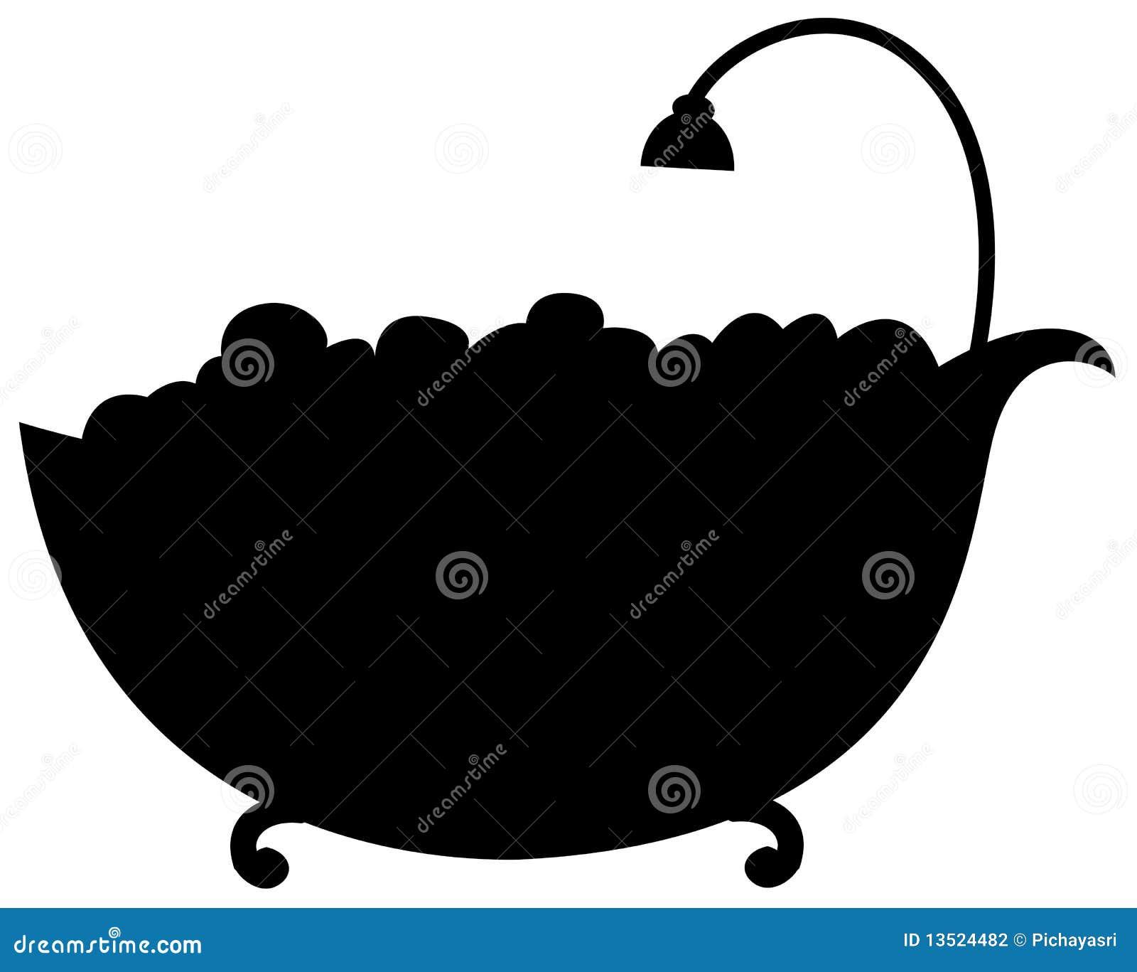 De badkuip van het silhouet stock fotografie afbeelding 13524482 - Badkuip bel ...