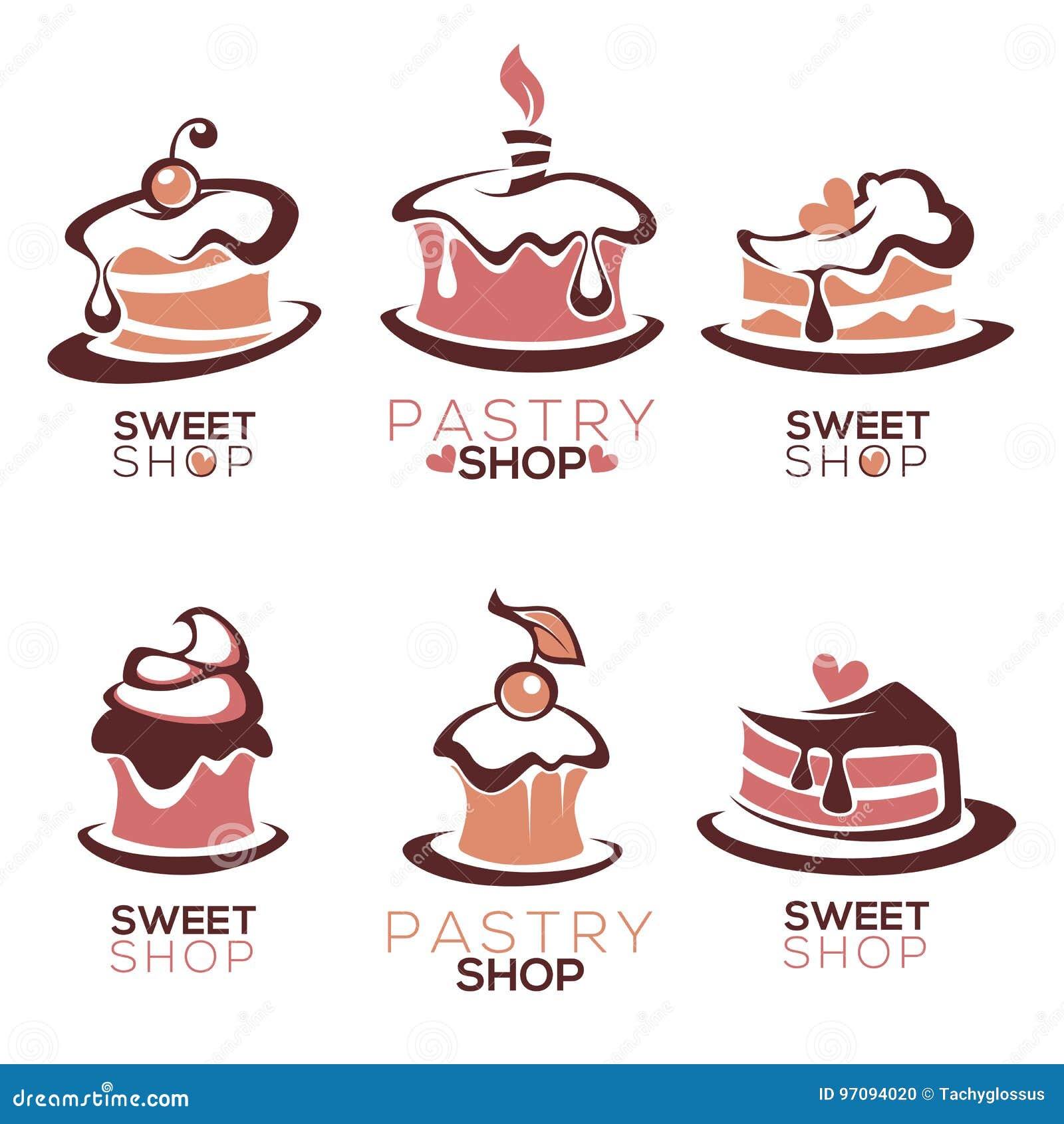 De bakkerij, gebakje, banketbakkerij, cake, dessert, snoepjes winkelt,