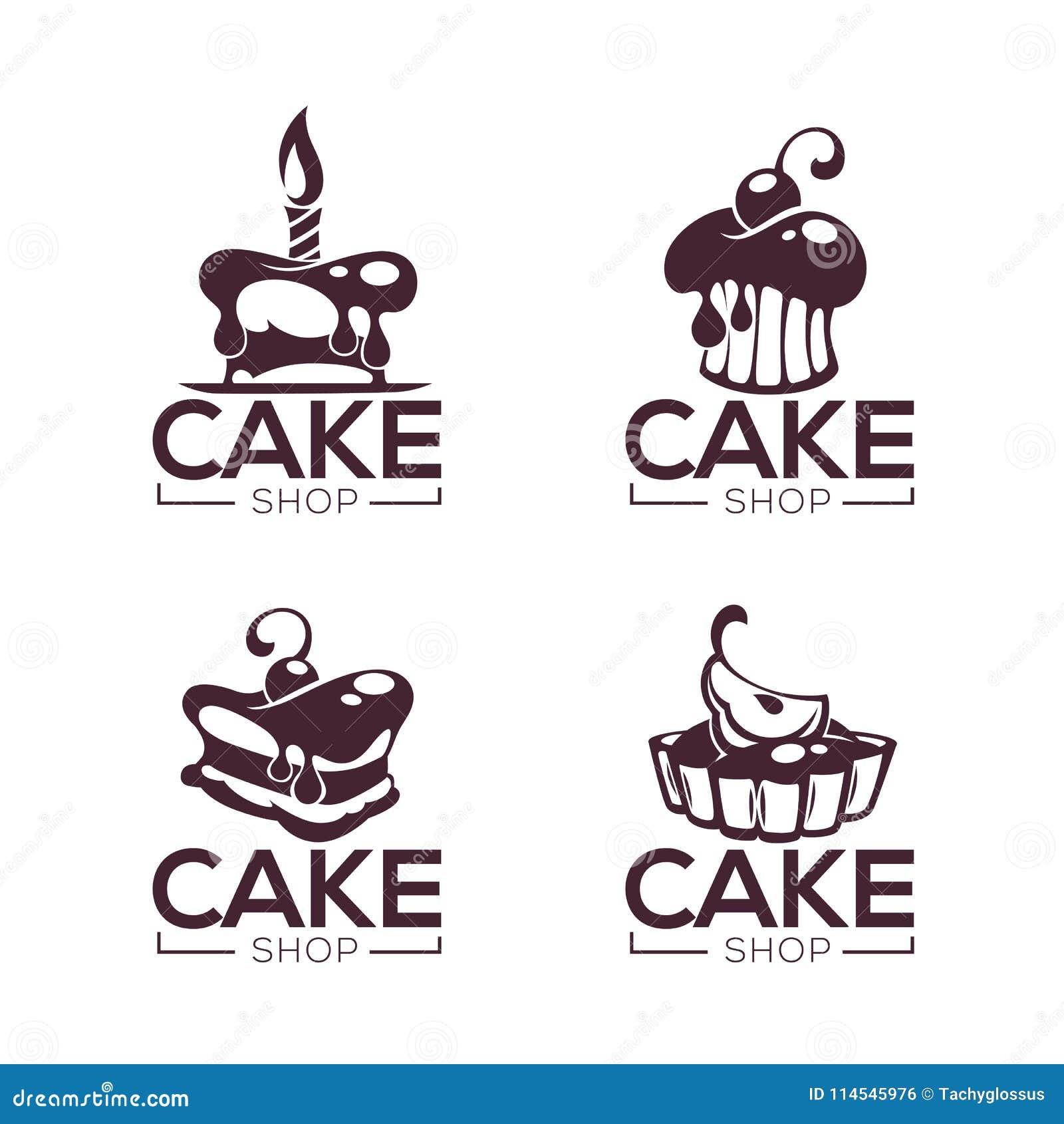 De bakkerij, gebakje, banketbakkerij, cake, dessert, snoepjes winkelt, vecto