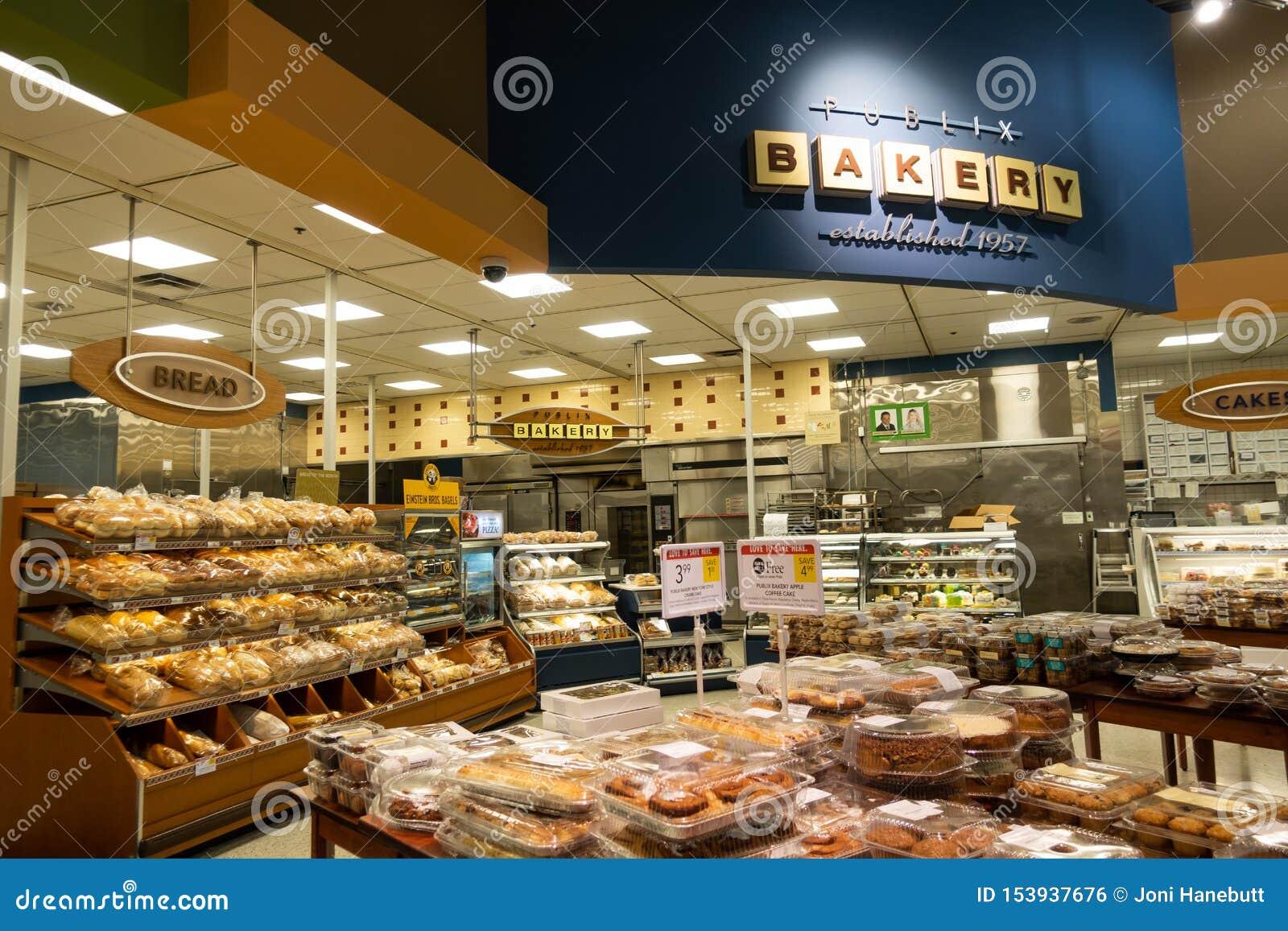 De bakkerijafdeling van een Publix-kruidenierswinkelopslag