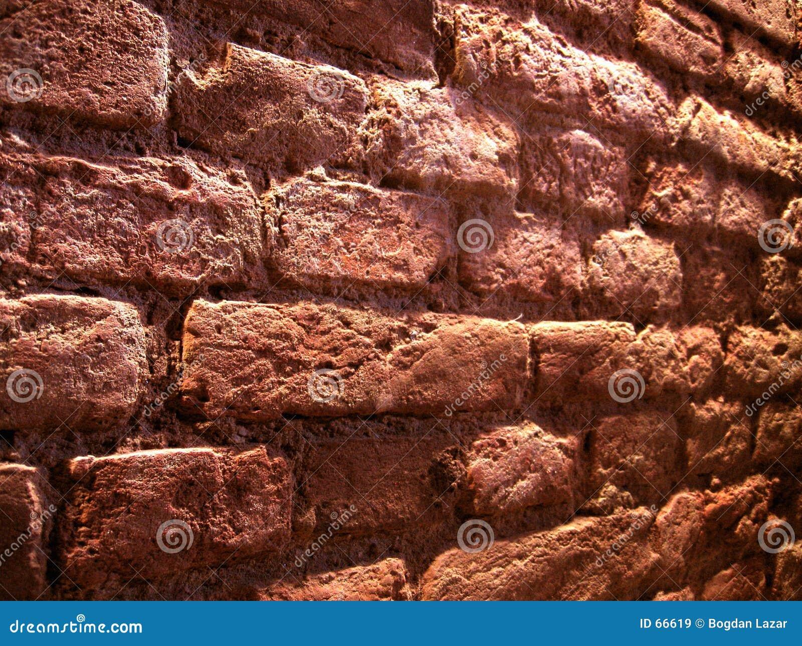 De bakstenen muur van het perspectief