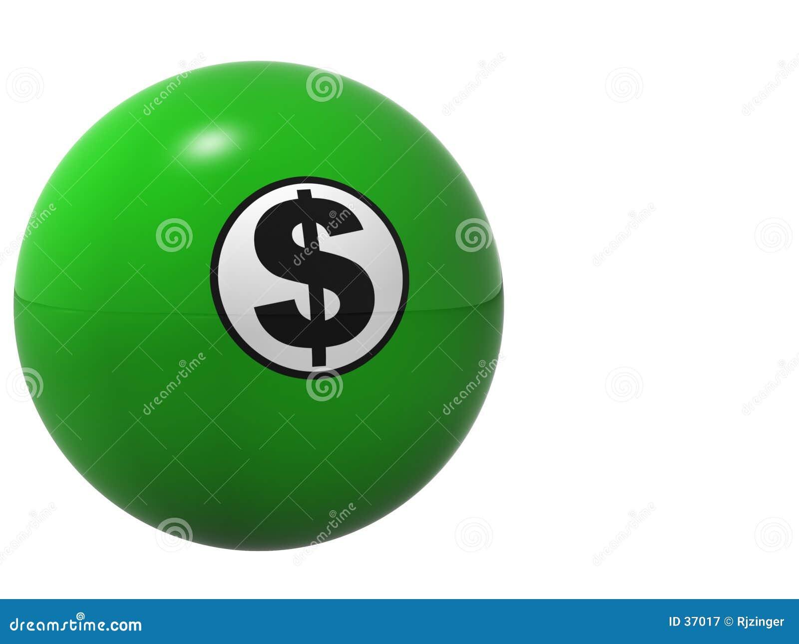 De Bal van Billard van het Teken van de dollar