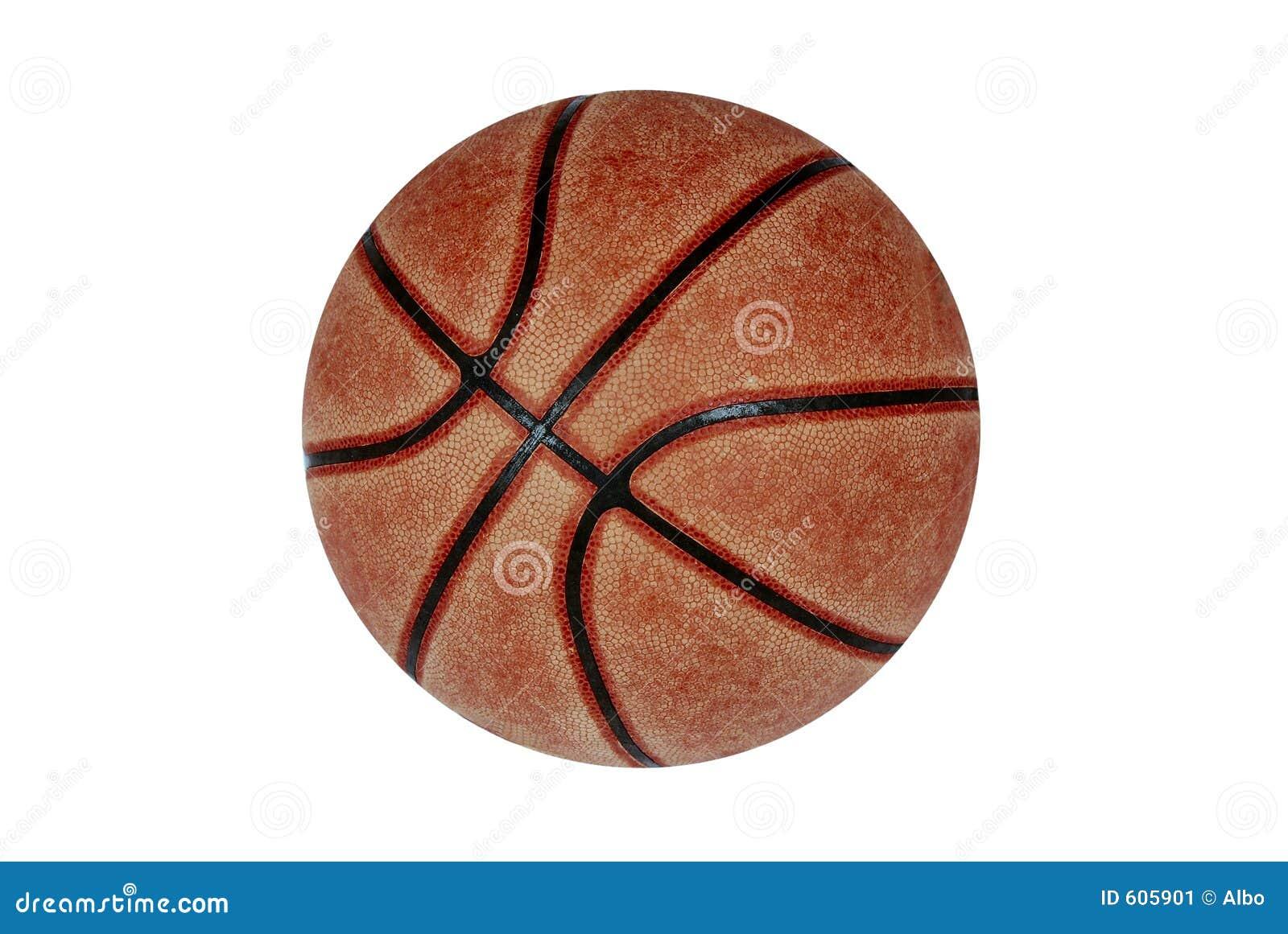 De bal van het basketbal