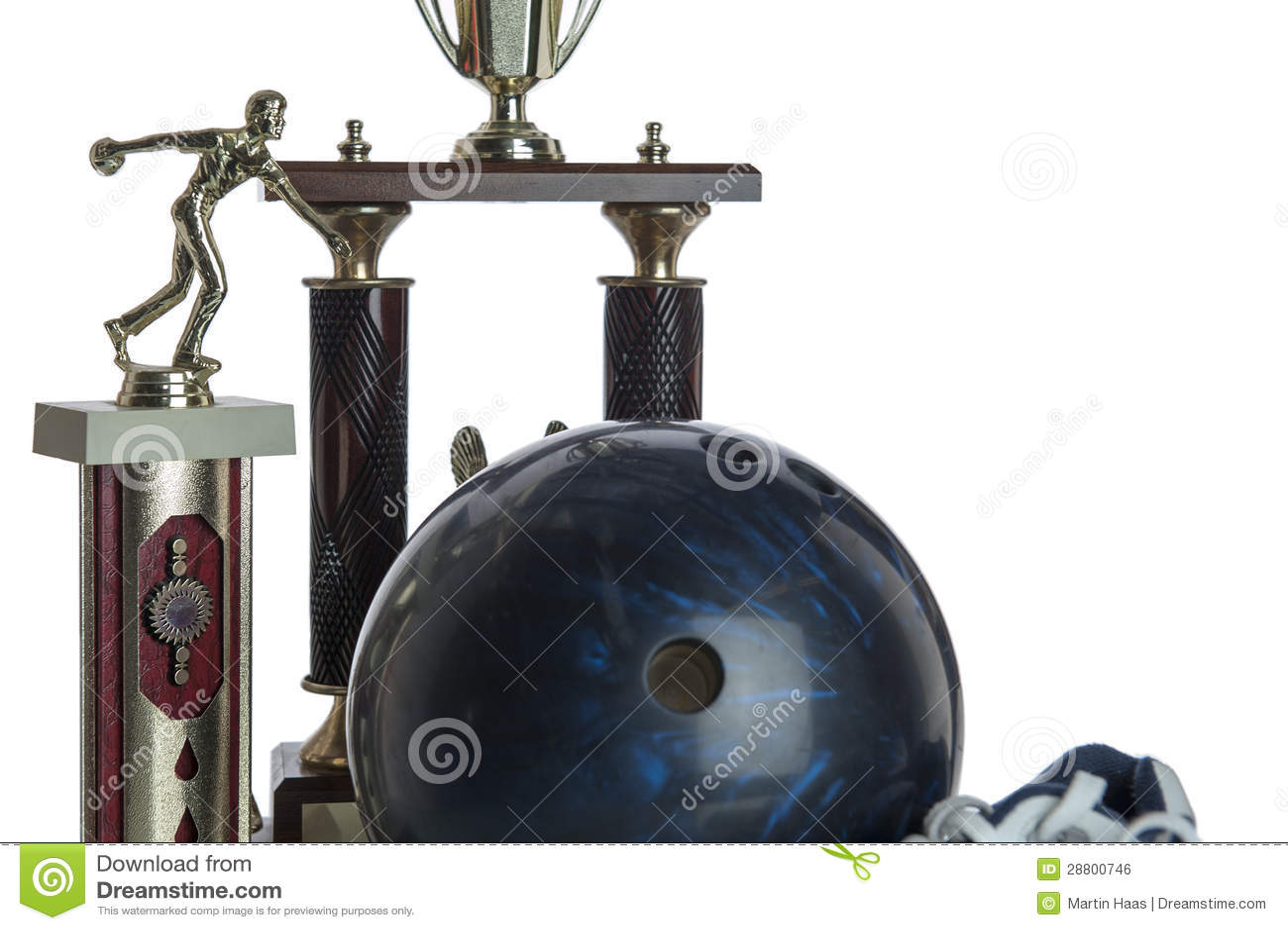 De bal van het kegelen schoenen en tropies royalty vrije stock afbeelding beeld 28800746 - Sterke witte werpen en de bal ...