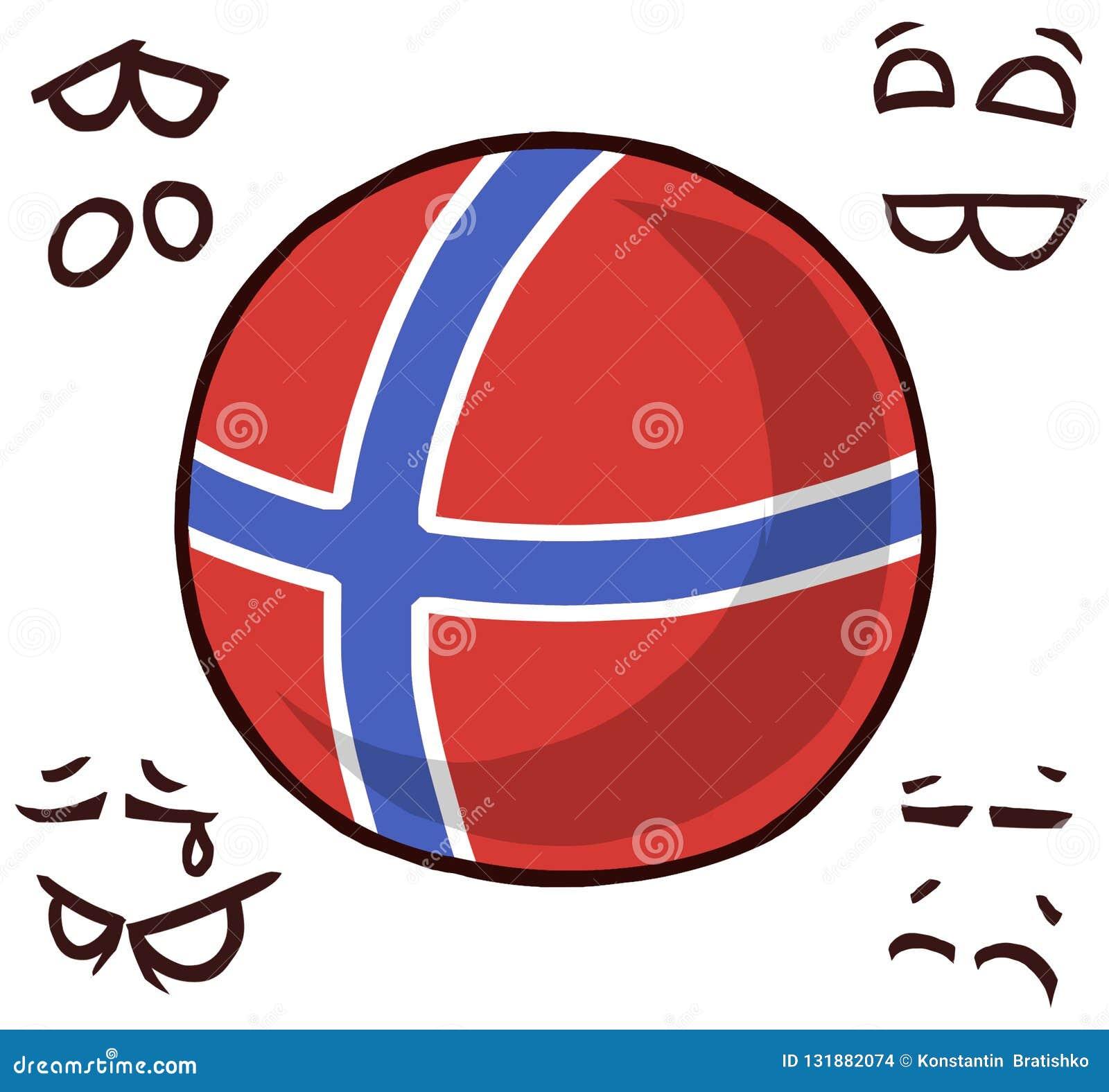 De bal van het land van Noorwegen