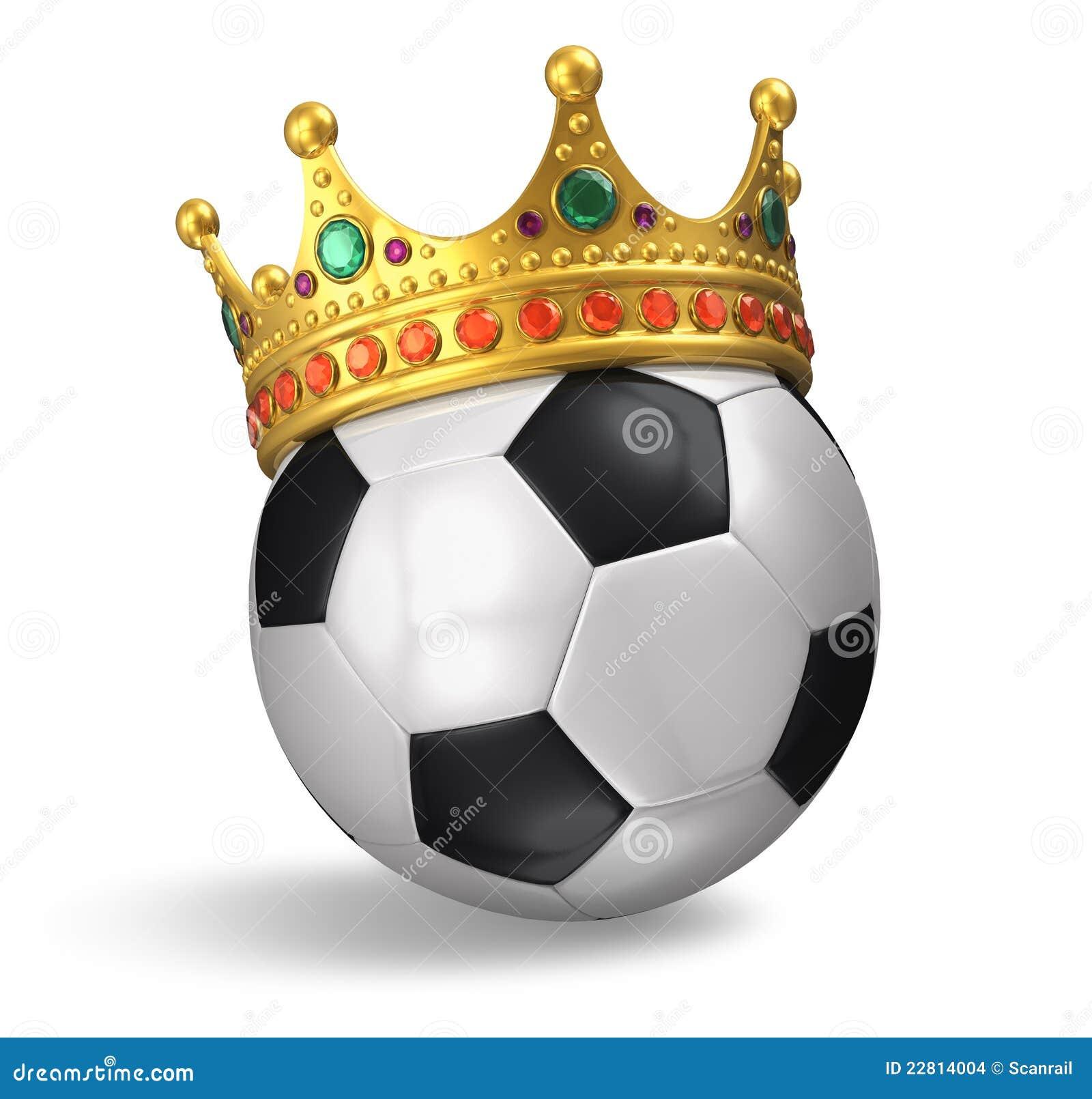 De bal van het voetbal met kroon stock illustratie afbeelding 22814004 - Sterke witte werpen en de bal ...