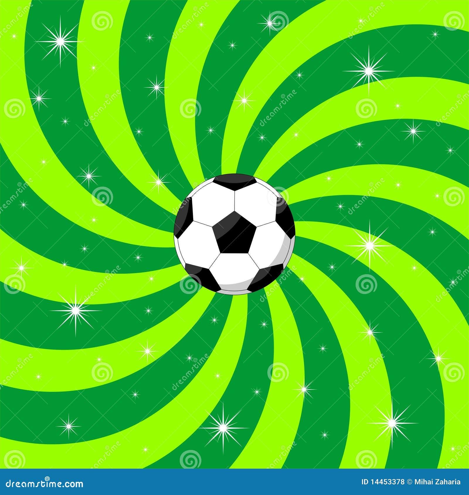De bal van het voetbal op achtergrond