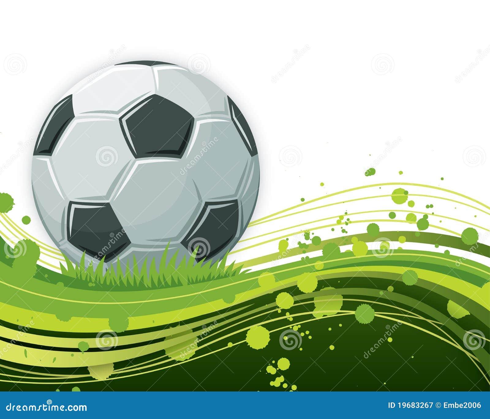 De Bal van het voetbal op Golvende Achtergrond