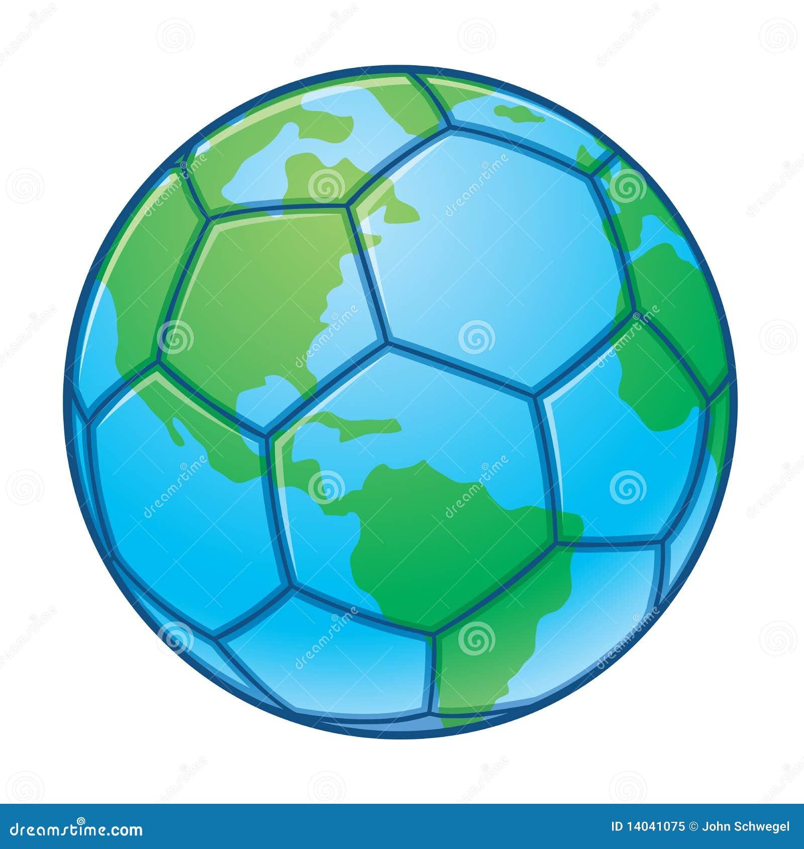 De bal van het voetbal van de kop van de wereld van de aarde royalty vrije stock foto - Basket thuis van de wereld ...