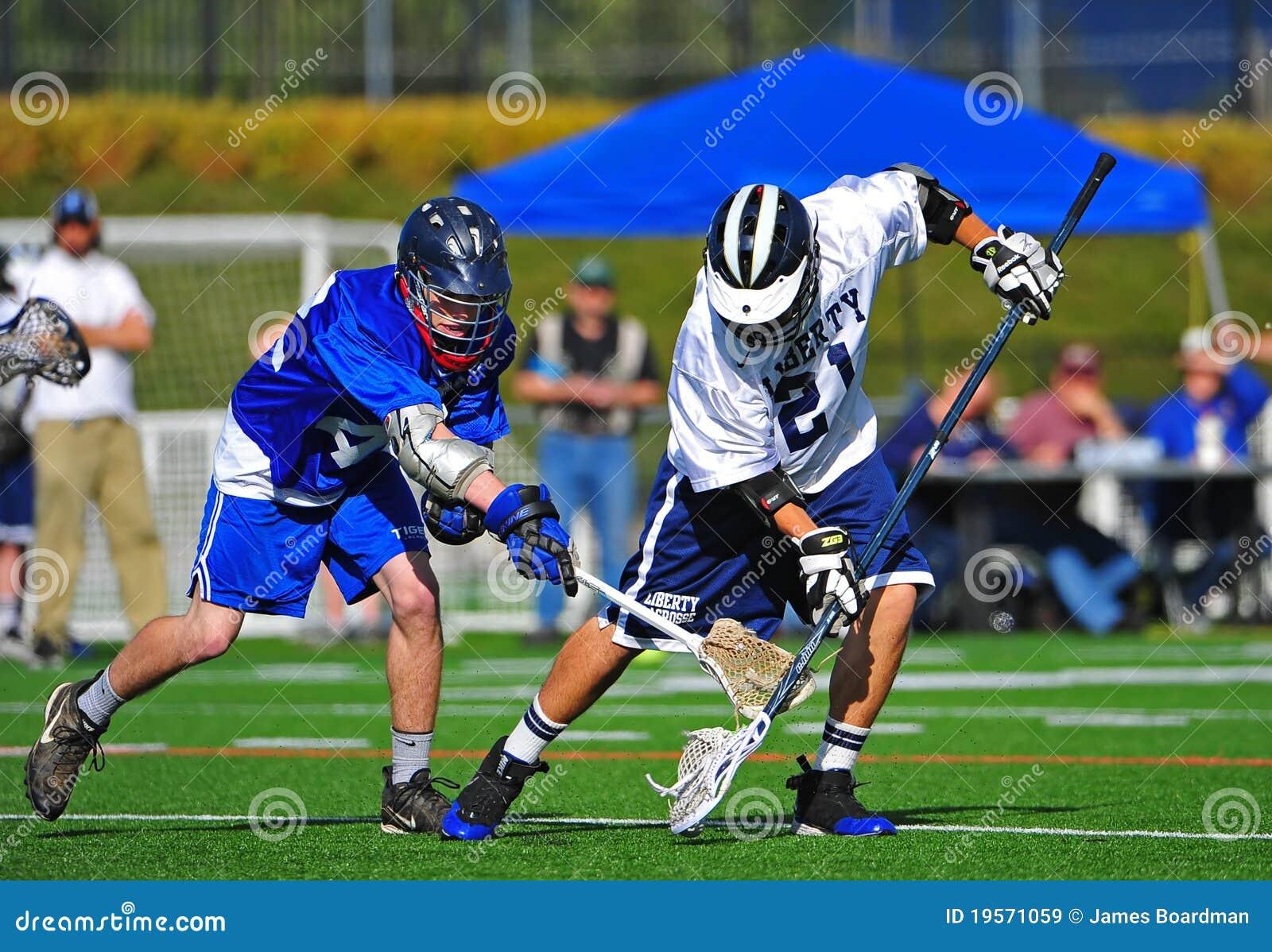 De balbereik van de lacrosse