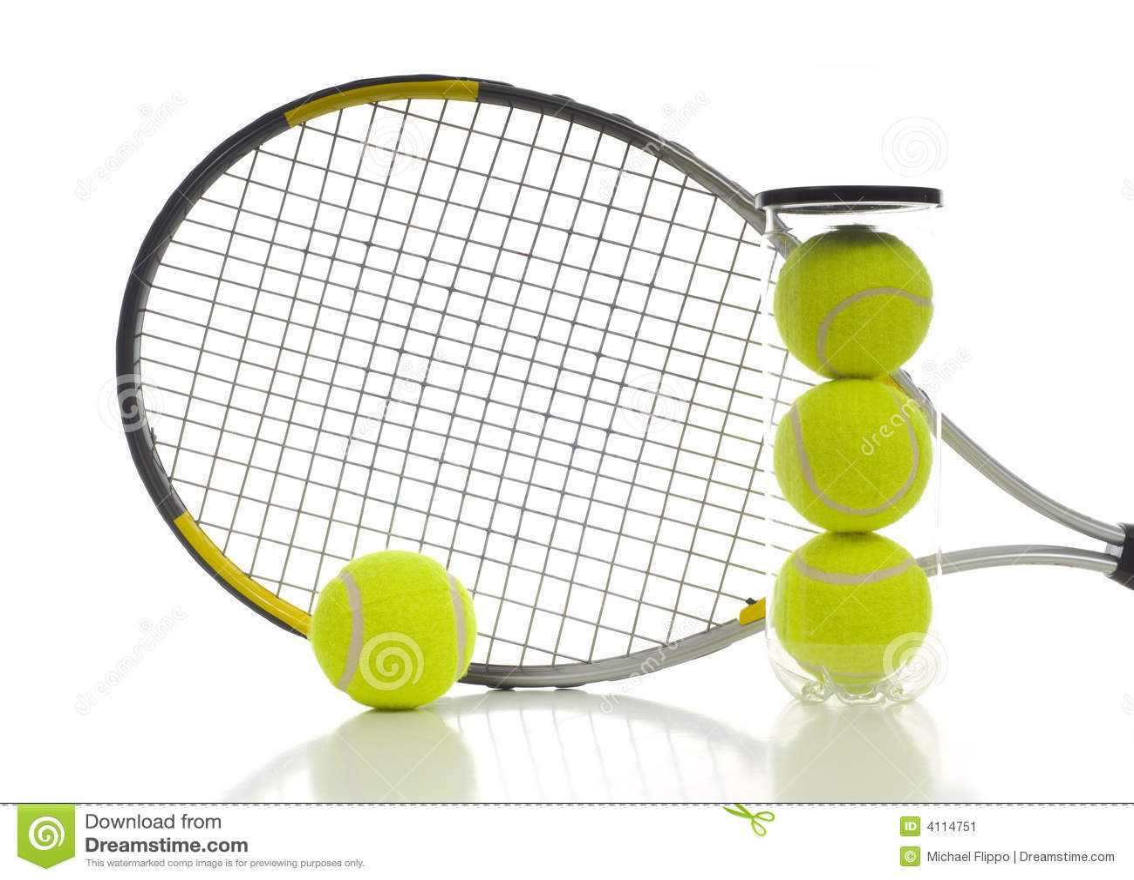 De Ballen en de Racket van het tennis