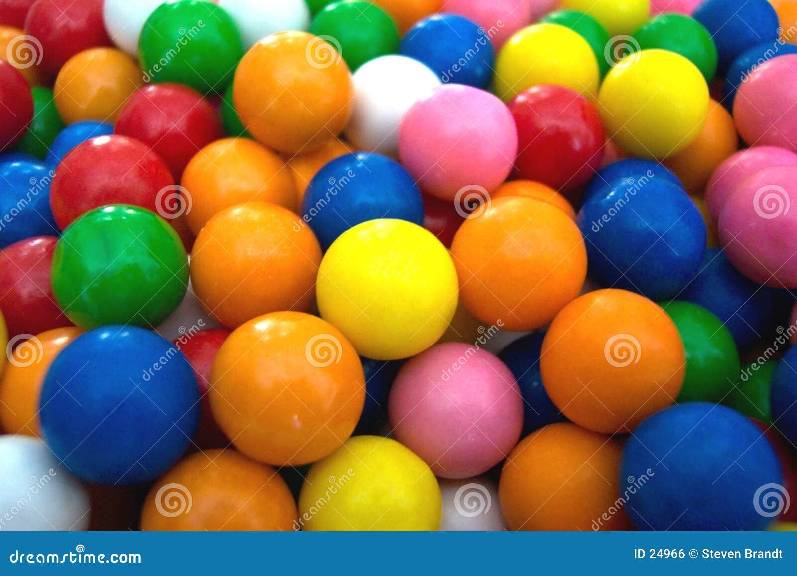 De ballen van de gom