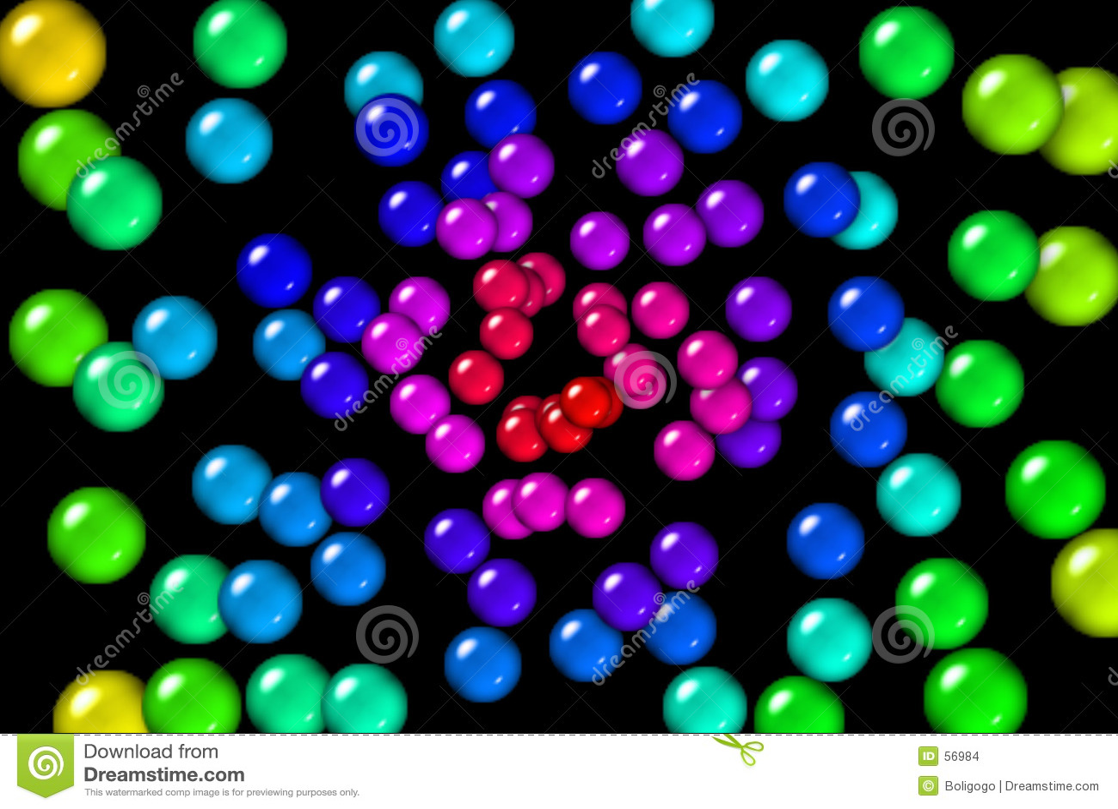 De Ballen van de Gom van de regenboog