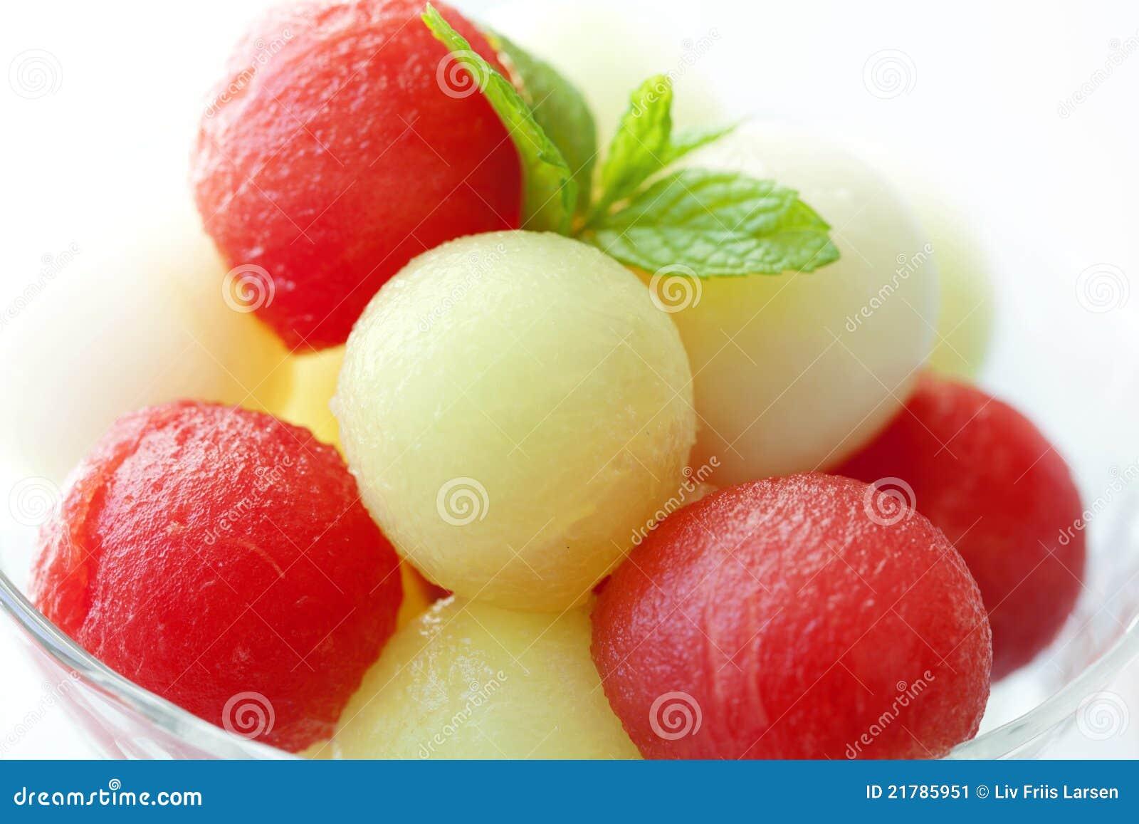 De ballen van de meloen