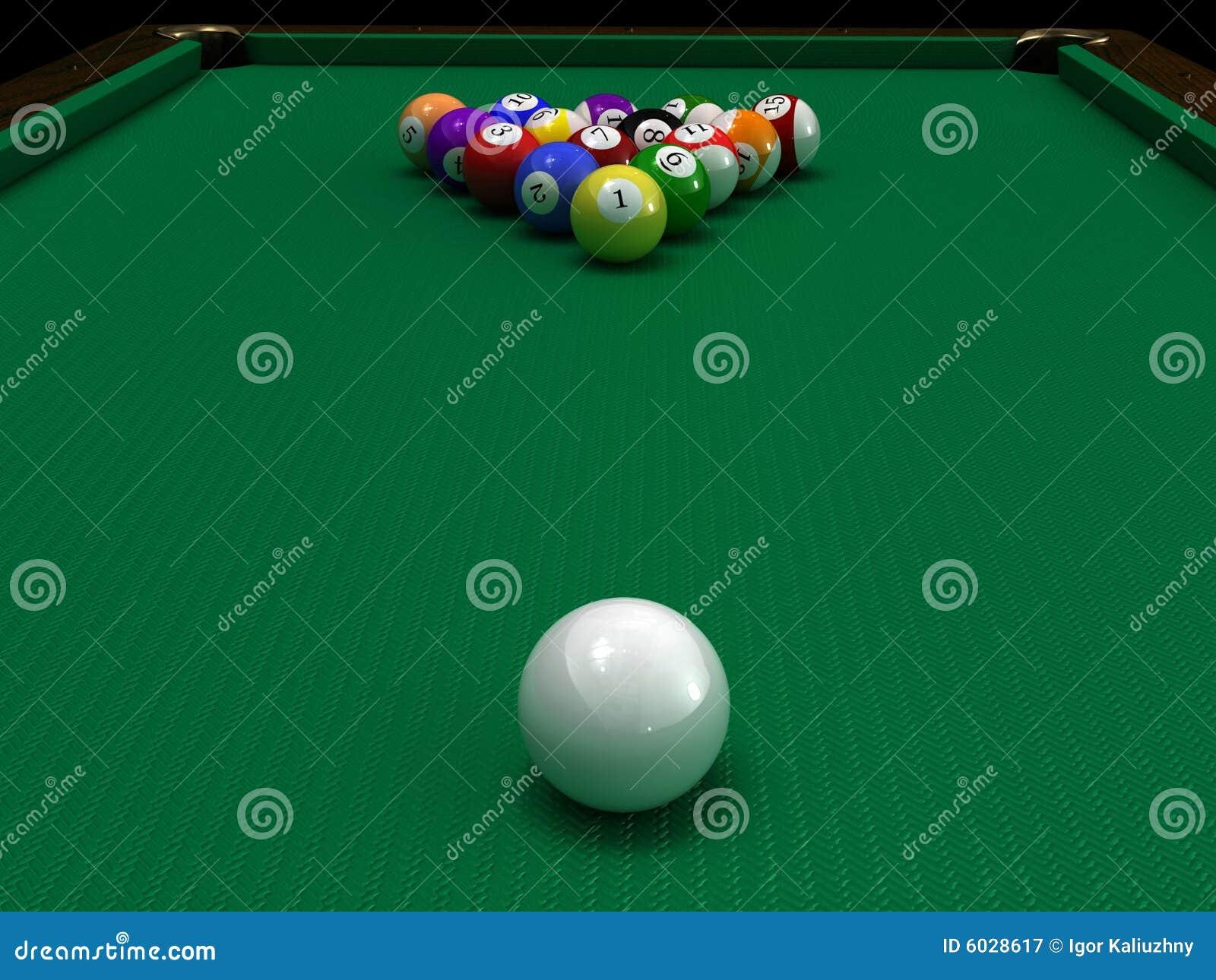 De ballen van de pool