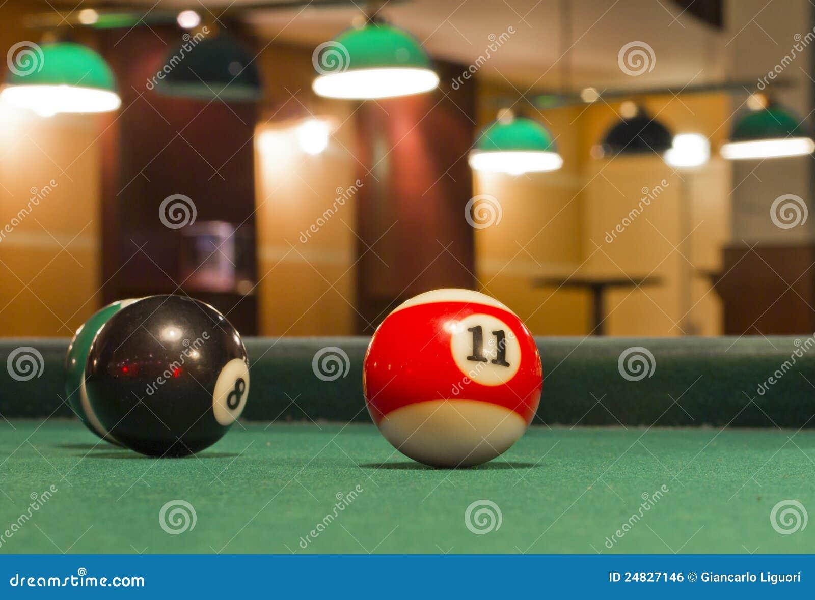 De ballen van de snooker