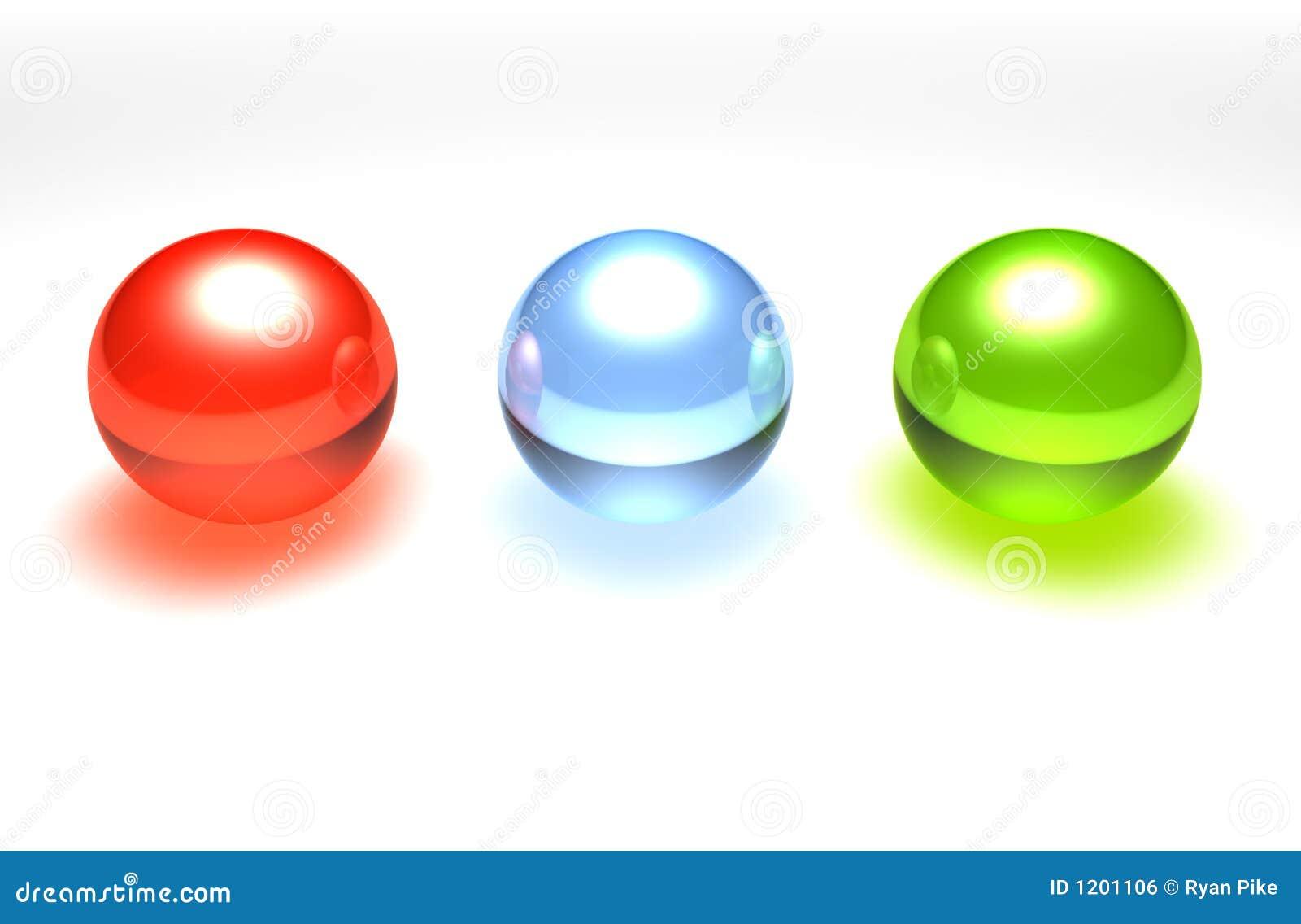 De ballen van het glas