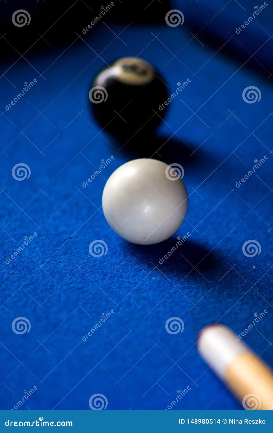 De ballen van het poolbiljart op blauwe het spelreeks van de lijstsport Snooker, Poolspel