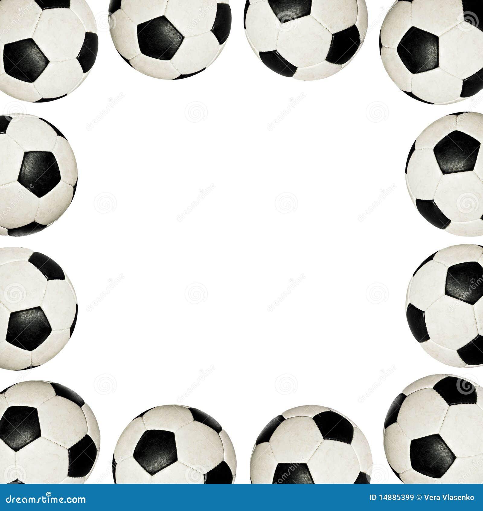 Royalty-vrije Stock Afbeeldingen: De ballen van het voetbal - frame