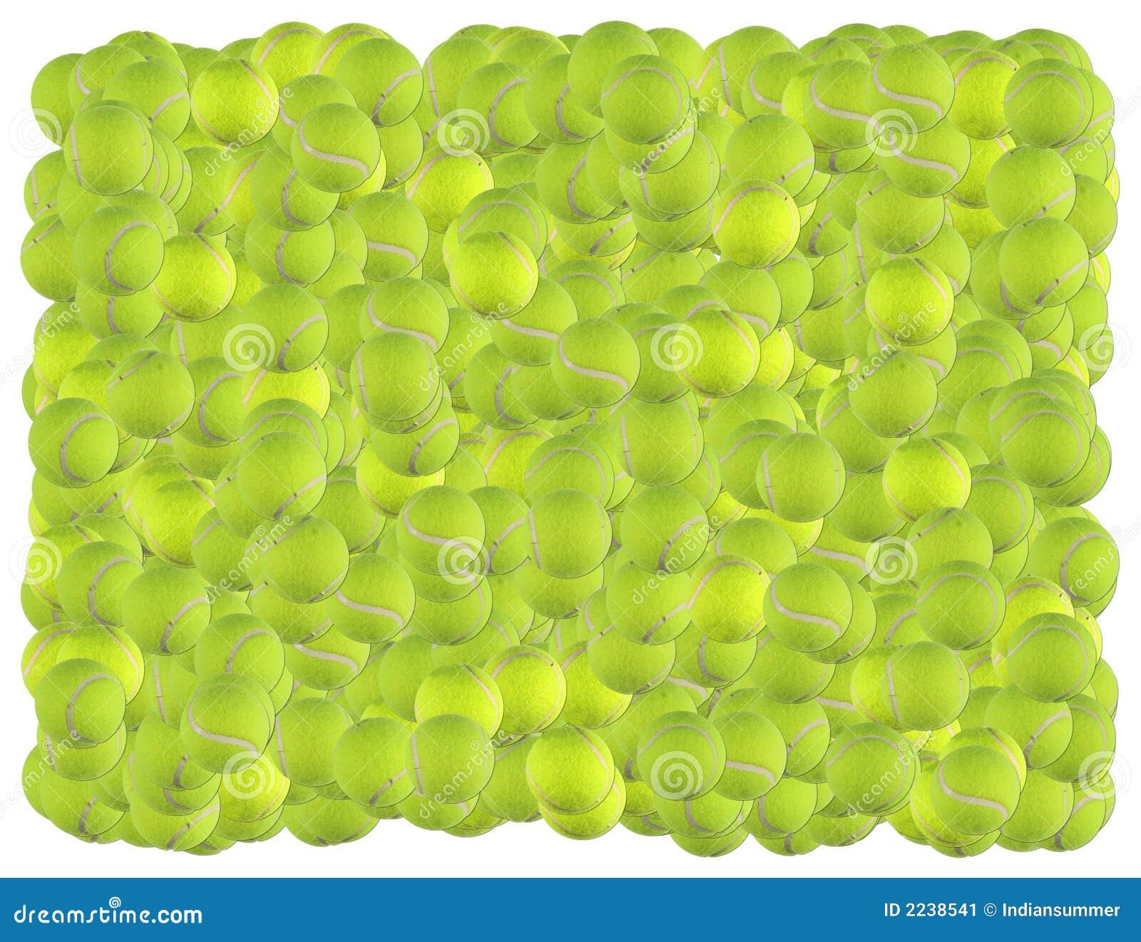 De ballenachtergrond van het tennis