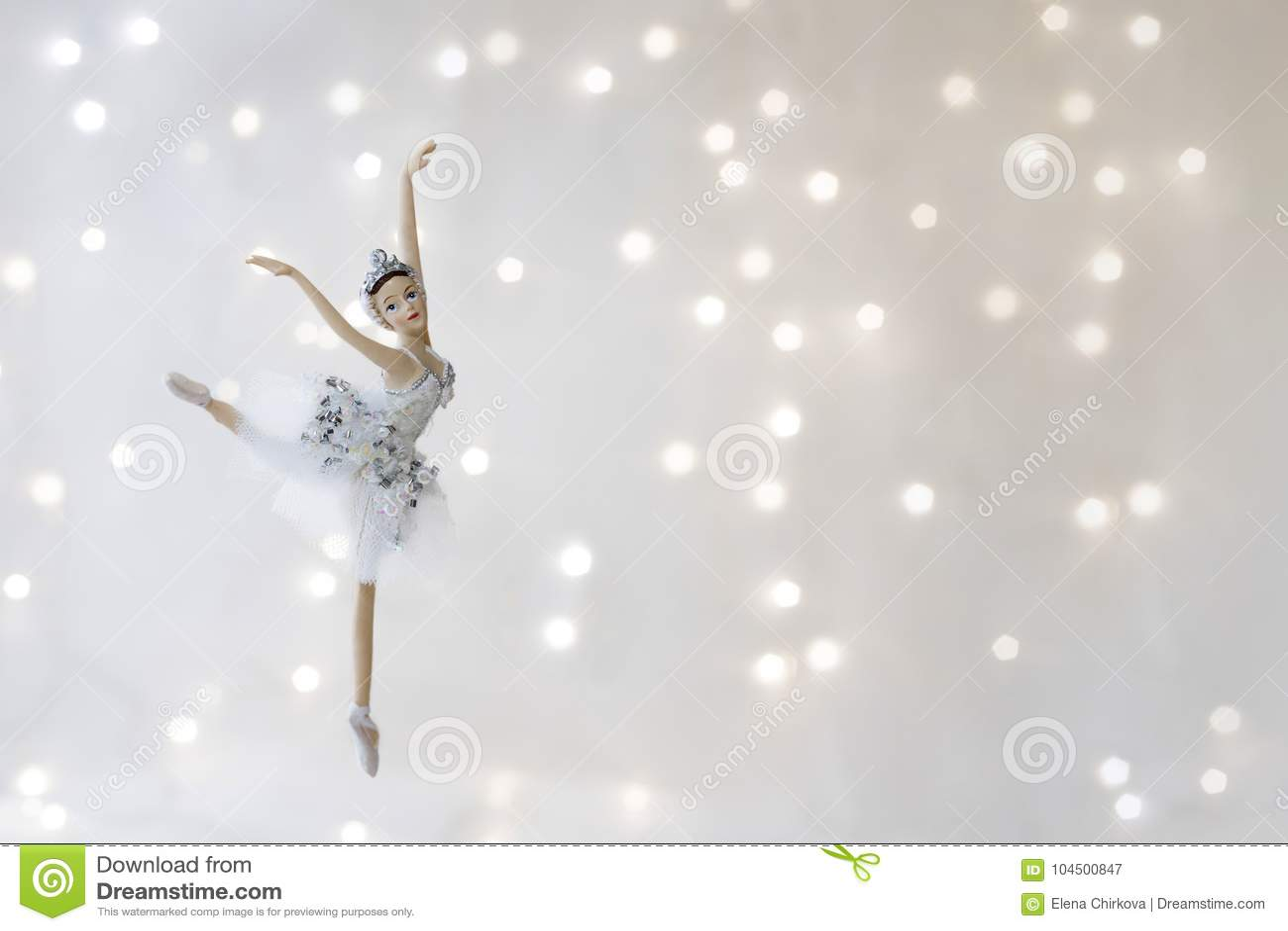 De Ballerina van het Kerstmisspeelgoed