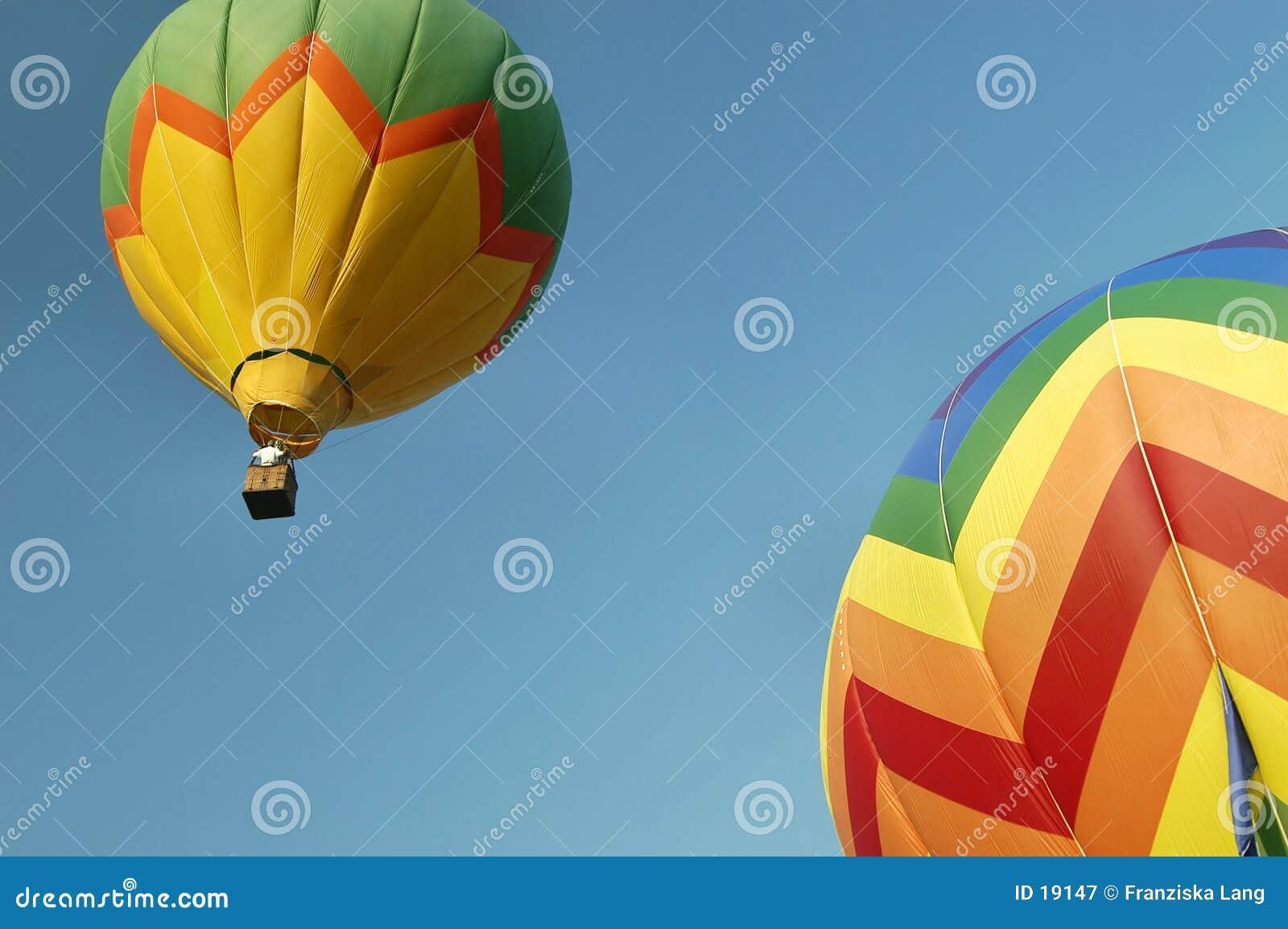 De Ballons van de hete Lucht